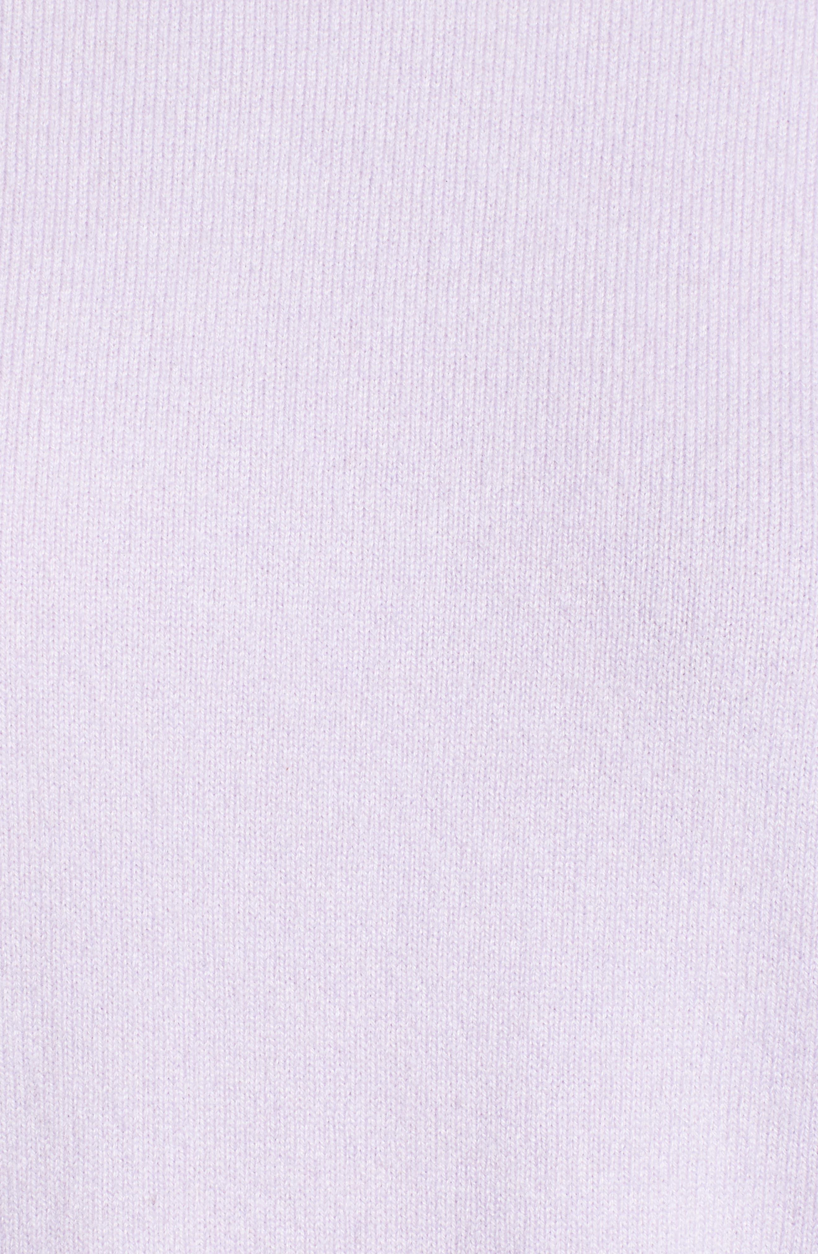 Blouson Sleeve Cashmere Blend Sweater,                             Alternate thumbnail 5, color,