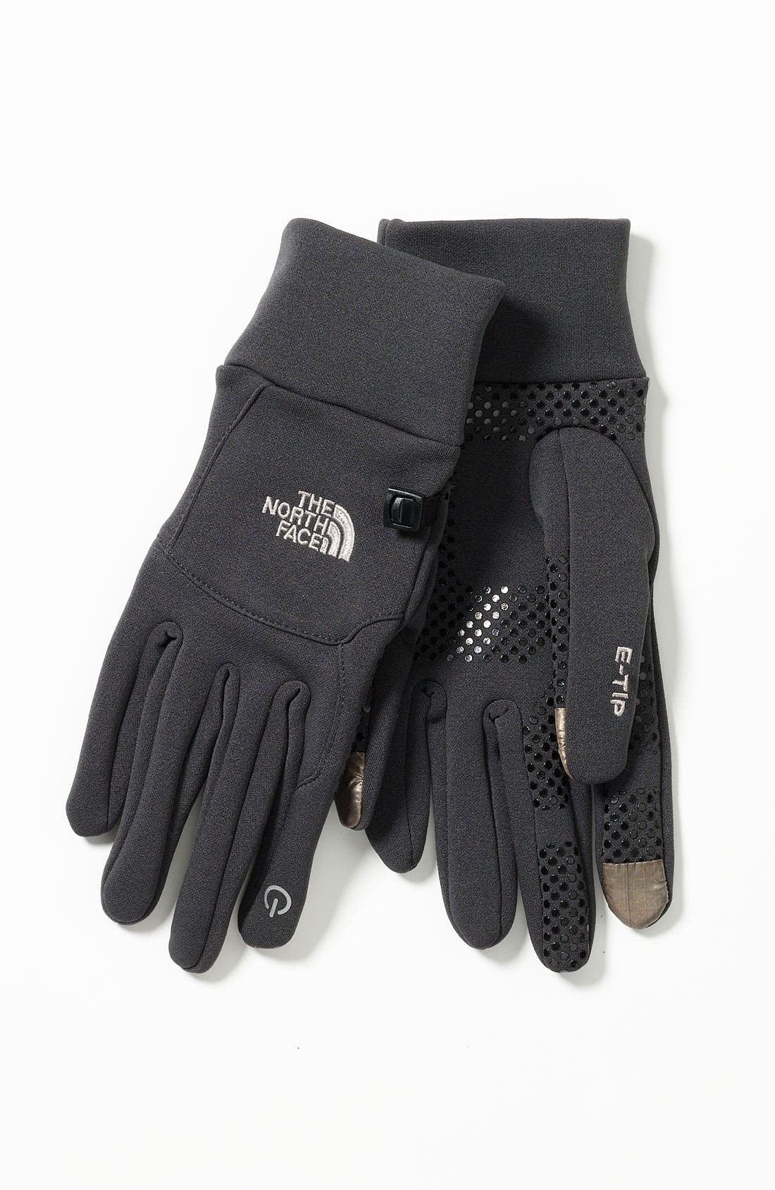 THE NORTH FACE,                             E-Tip Gloves,                             Alternate thumbnail 2, color,                             001