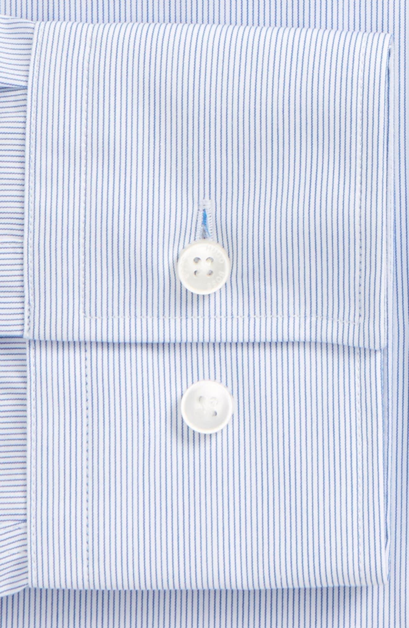 Jenno Slim Fit Easy Iron Stripe Dress Shirt,                             Alternate thumbnail 2, color,                             420