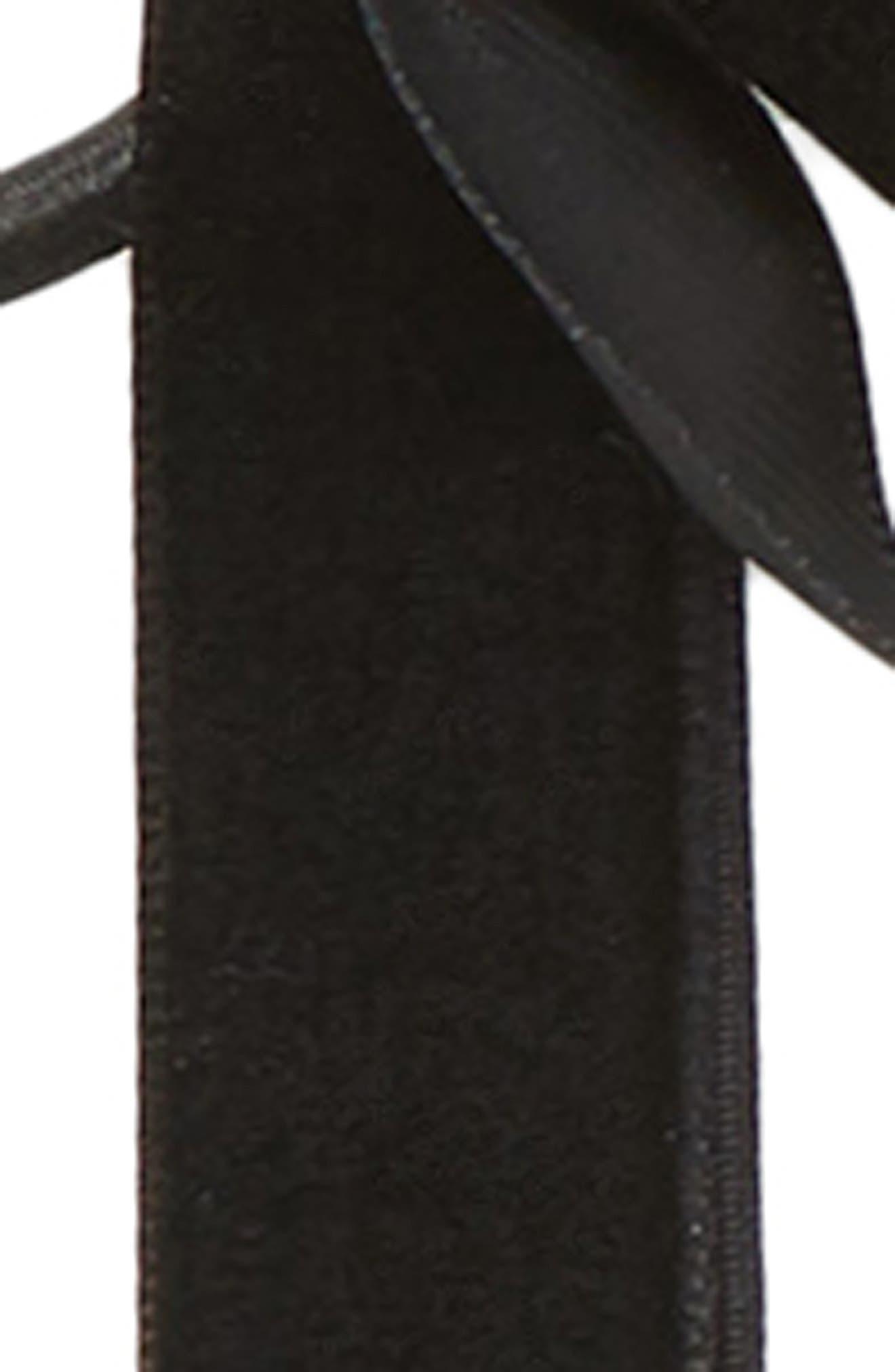 Skinny Double Bow Ponytail Holder,                             Alternate thumbnail 2, color,                             BLACK