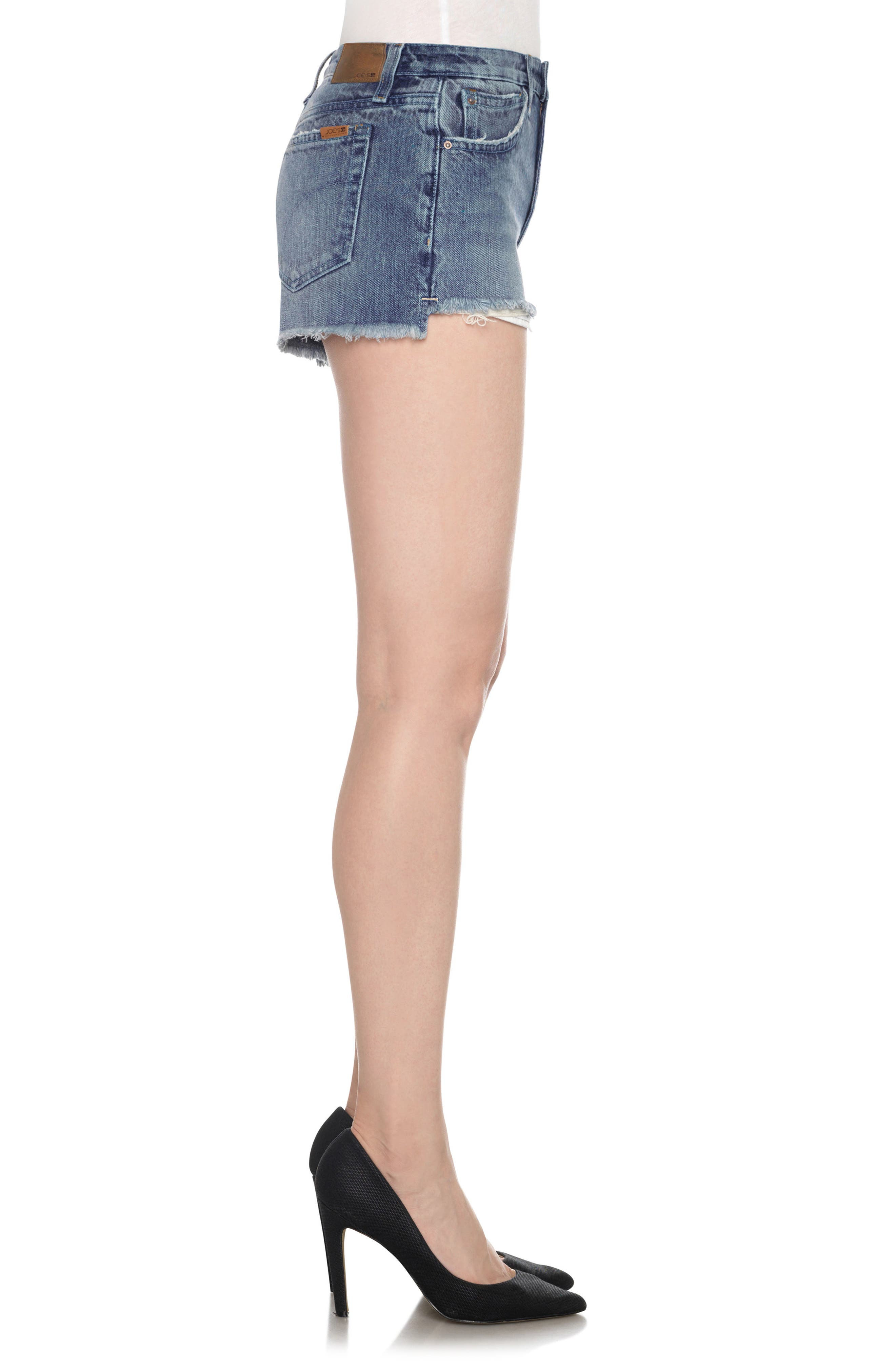 Collector's High/Low Denim Shorts,                             Alternate thumbnail 3, color,                             430