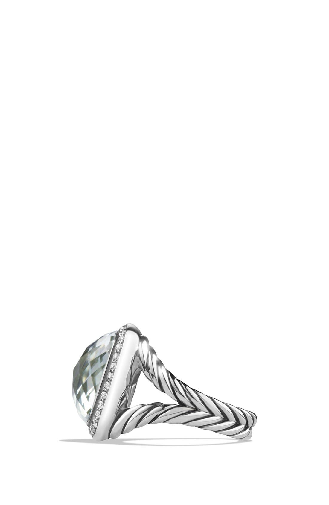 'Albion' Ring with Semiprecious Stone and Diamonds,                             Alternate thumbnail 4, color,                             PRASIOLITE