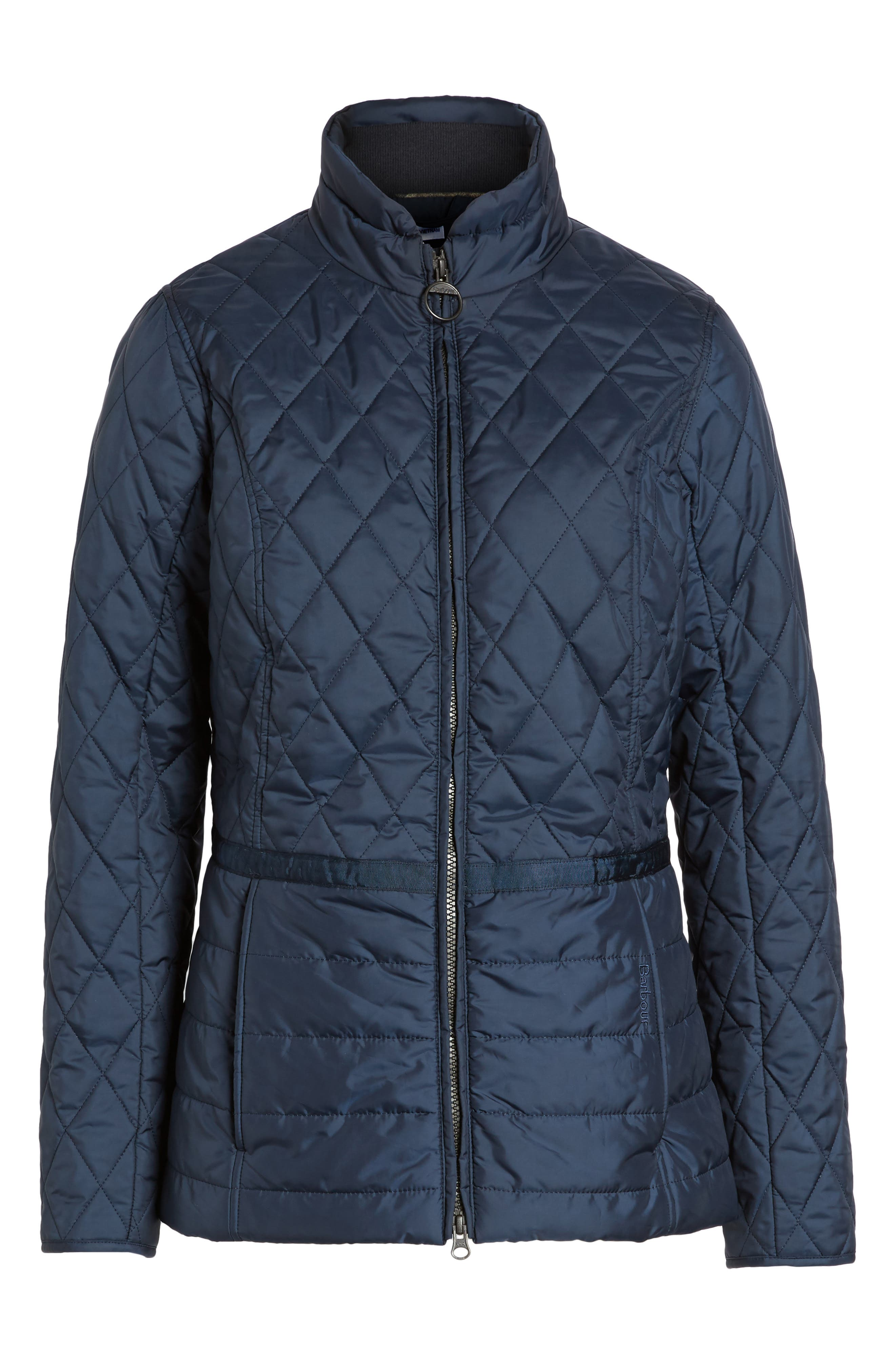 Water Resistant Quilted Jacket,                             Alternate thumbnail 10, color,