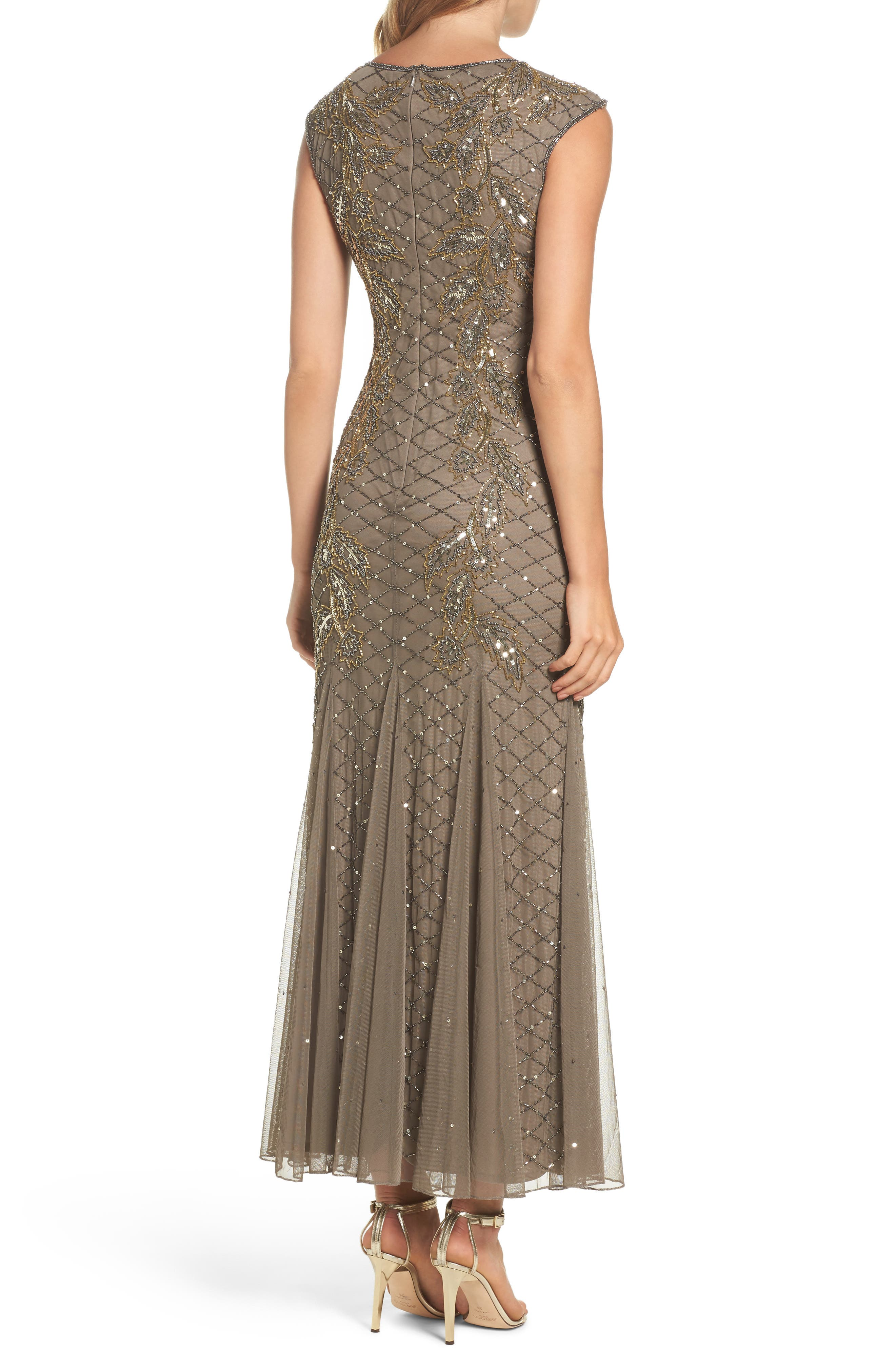 Flame Motif Embellished Gown,                             Alternate thumbnail 2, color,                             230