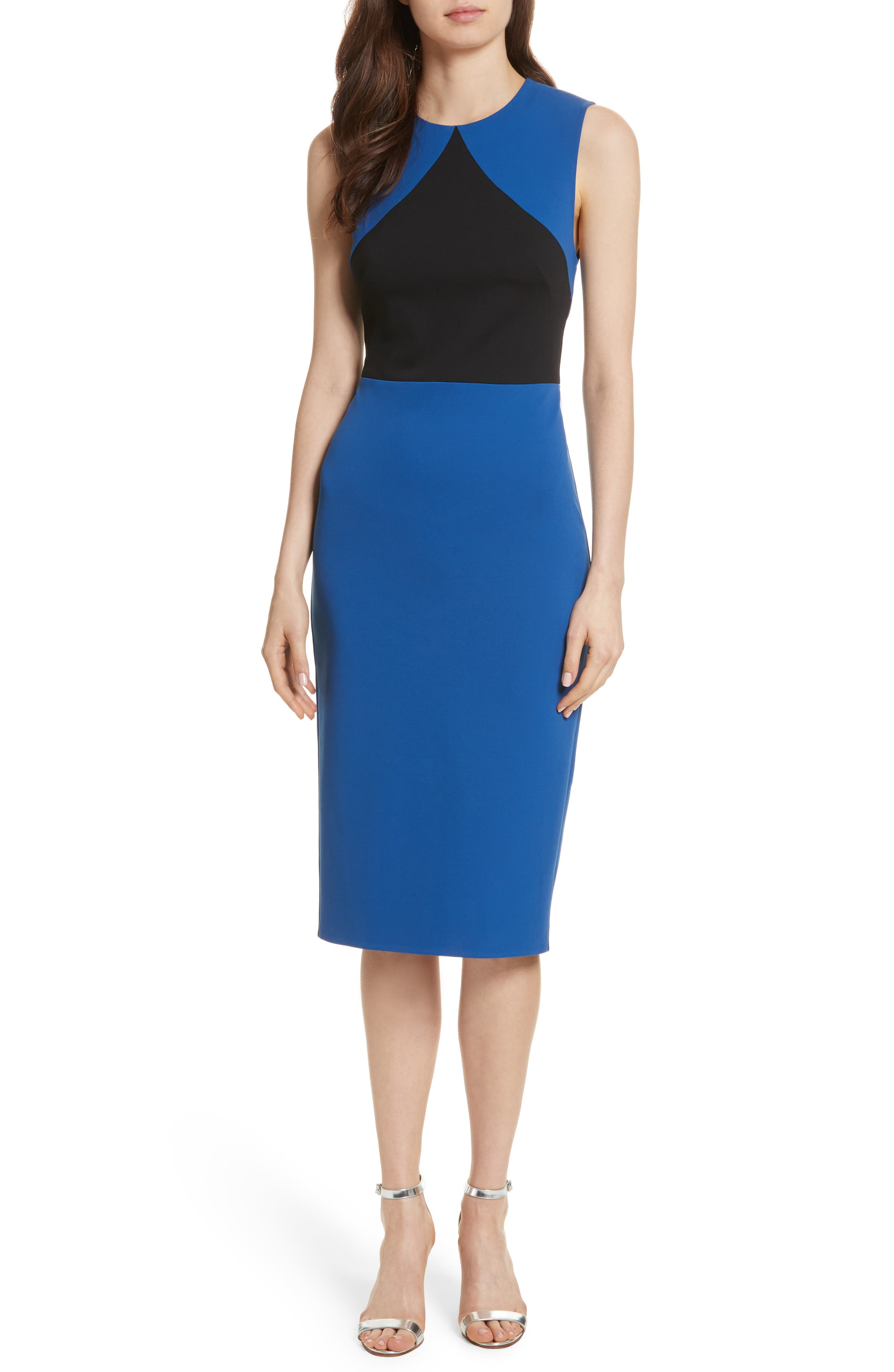 Colorblock Sheath Dress,                             Main thumbnail 1, color,                             413