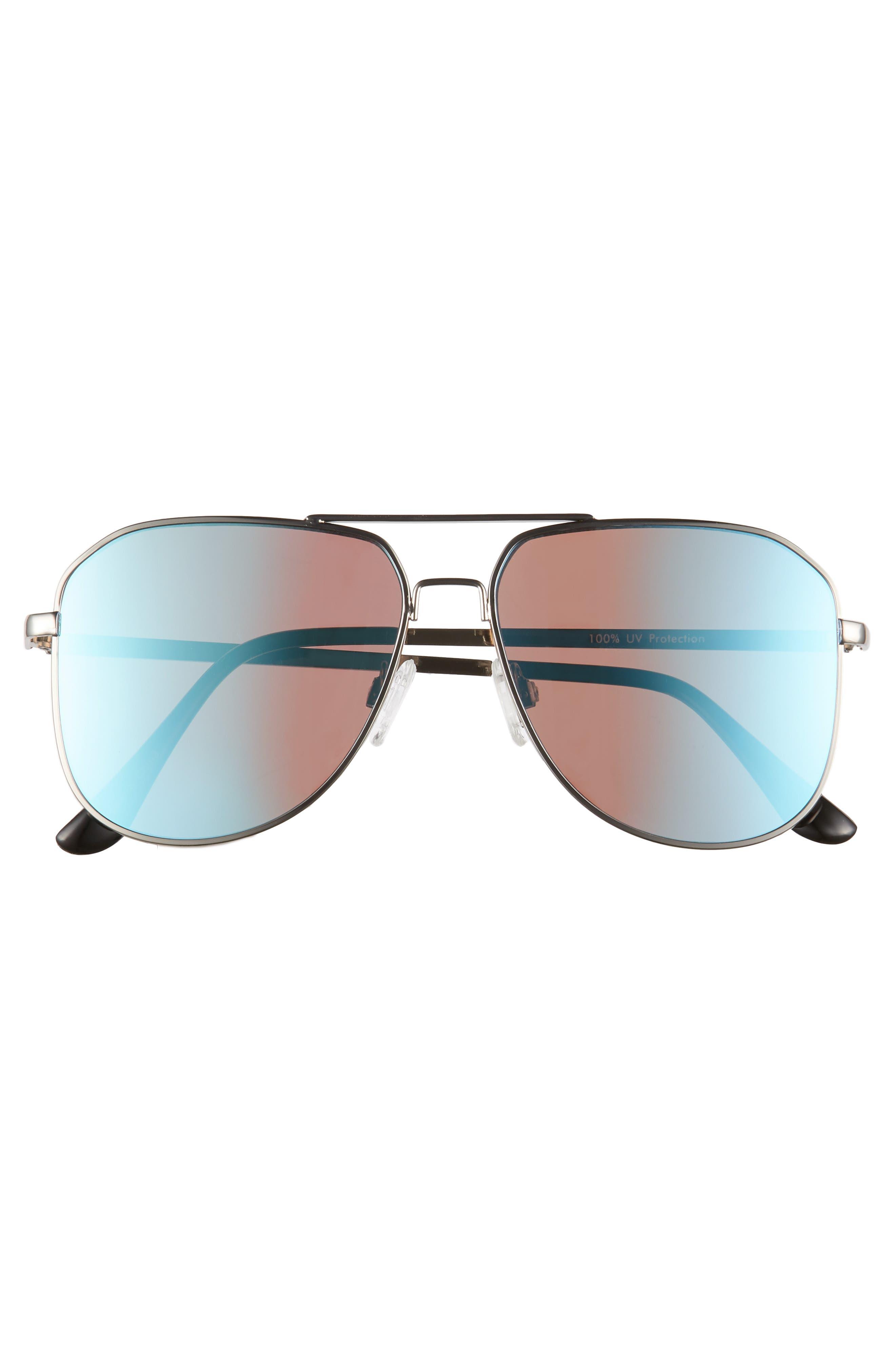 54mm Aviator Sunglasses,                             Alternate thumbnail 3, color,                             040