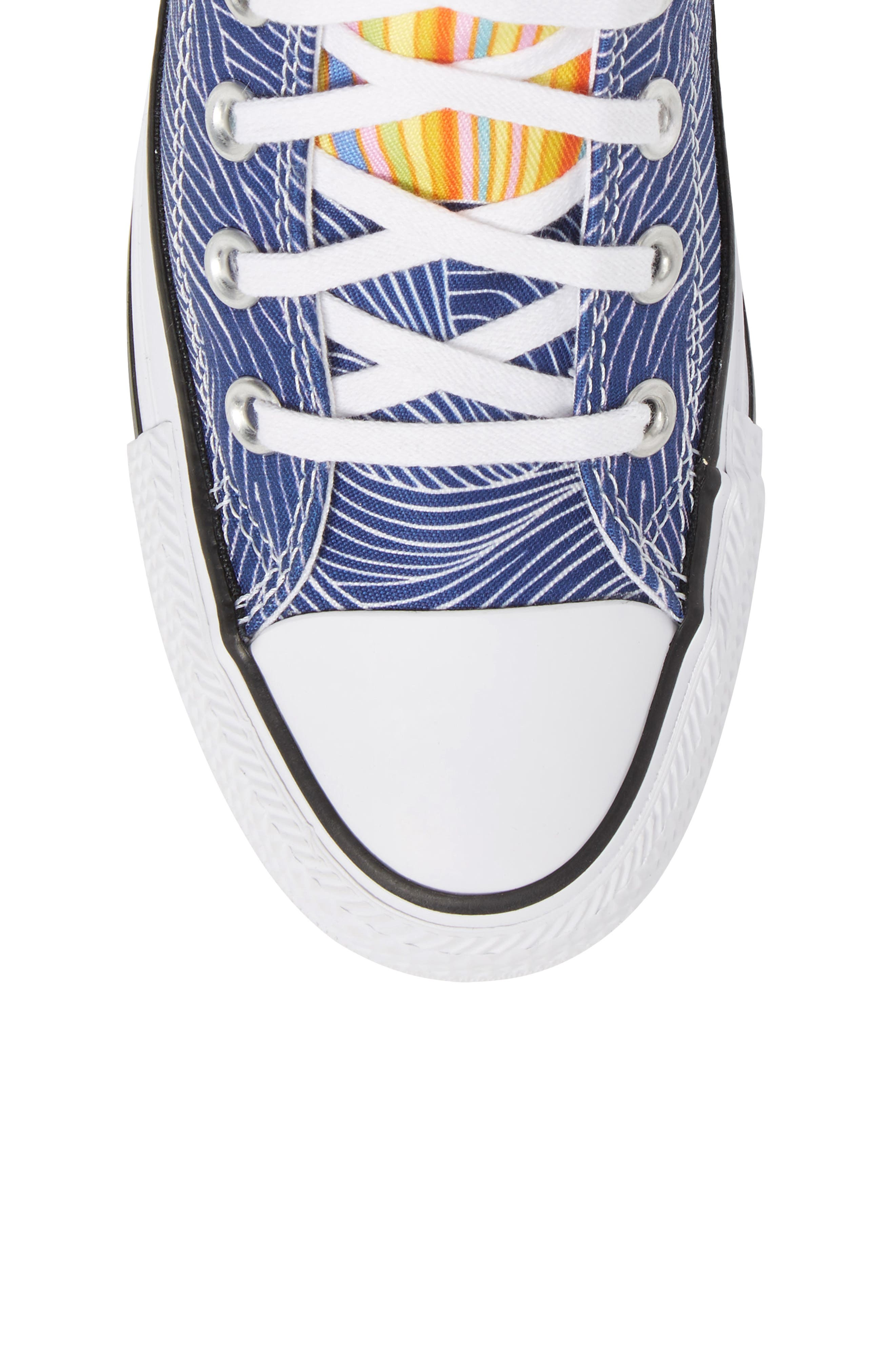 x Mara Hoffman All Star<sup>®</sup> Embroidered High Top Sneaker,                             Alternate thumbnail 9, color,