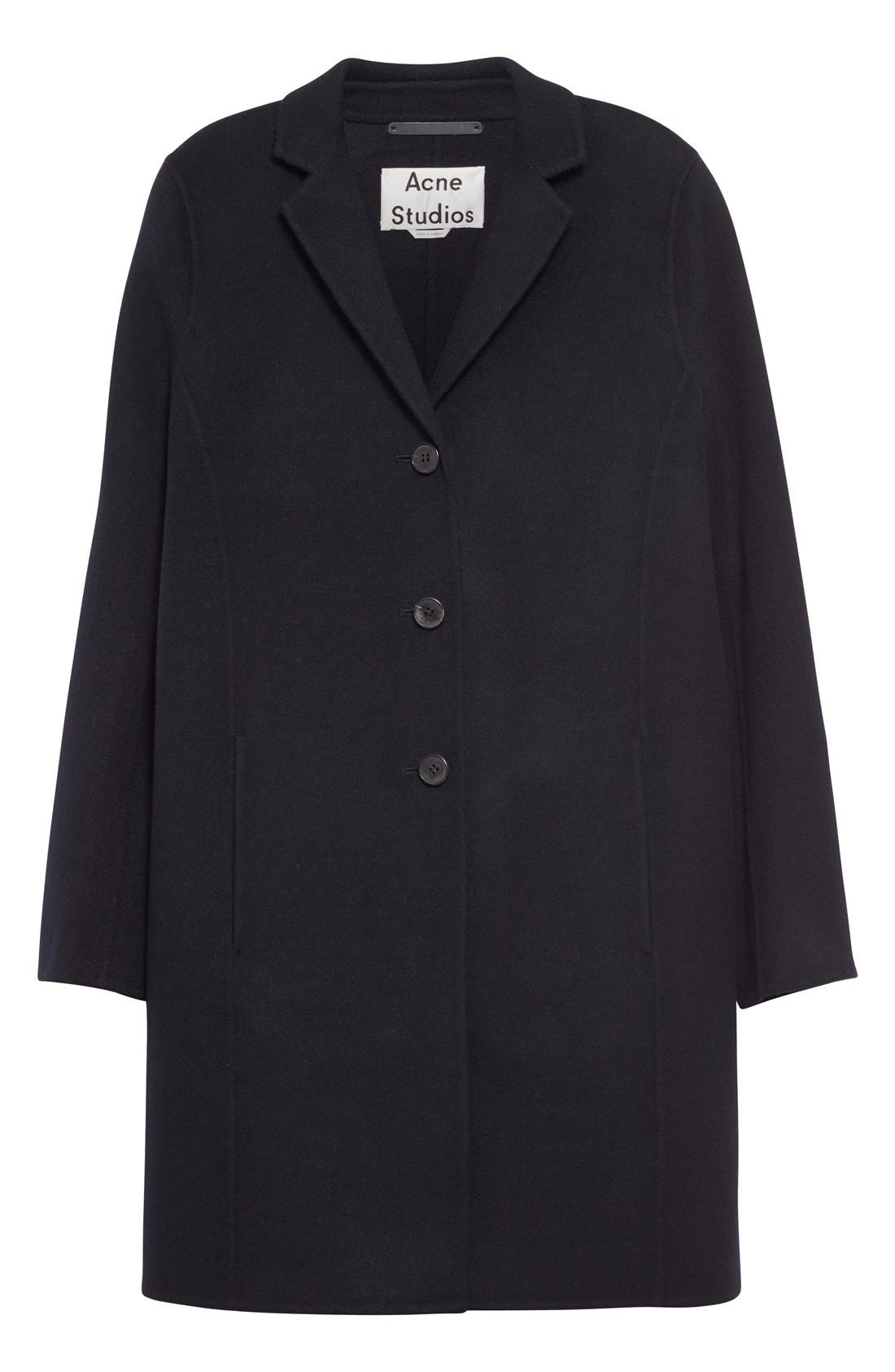 Elsa Double Wool & Cashmere Cocoon Coat,                             Alternate thumbnail 4, color,