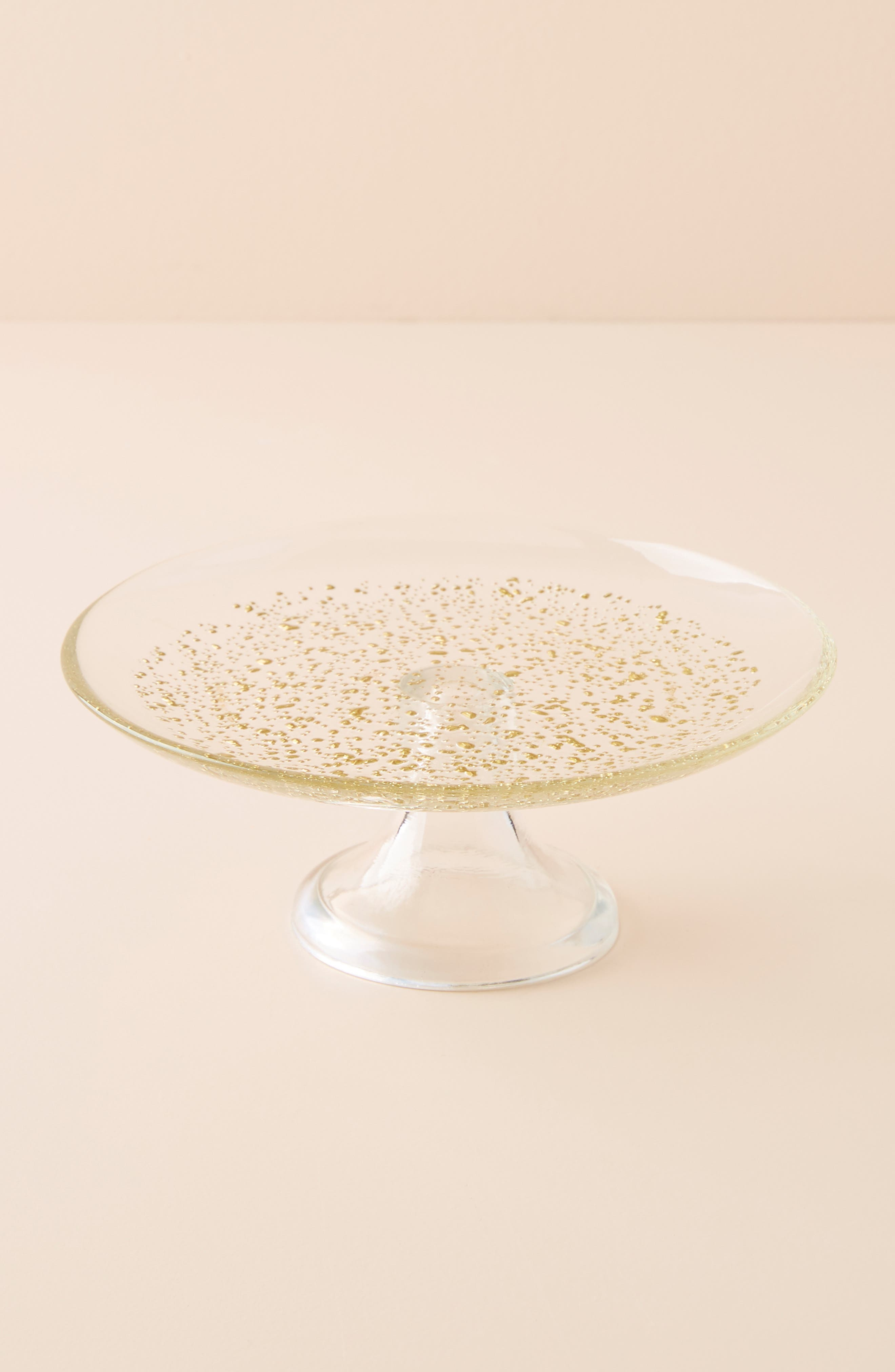 ANTHROPOLOGIE Elio Cake Stand, Main, color, CLEAR