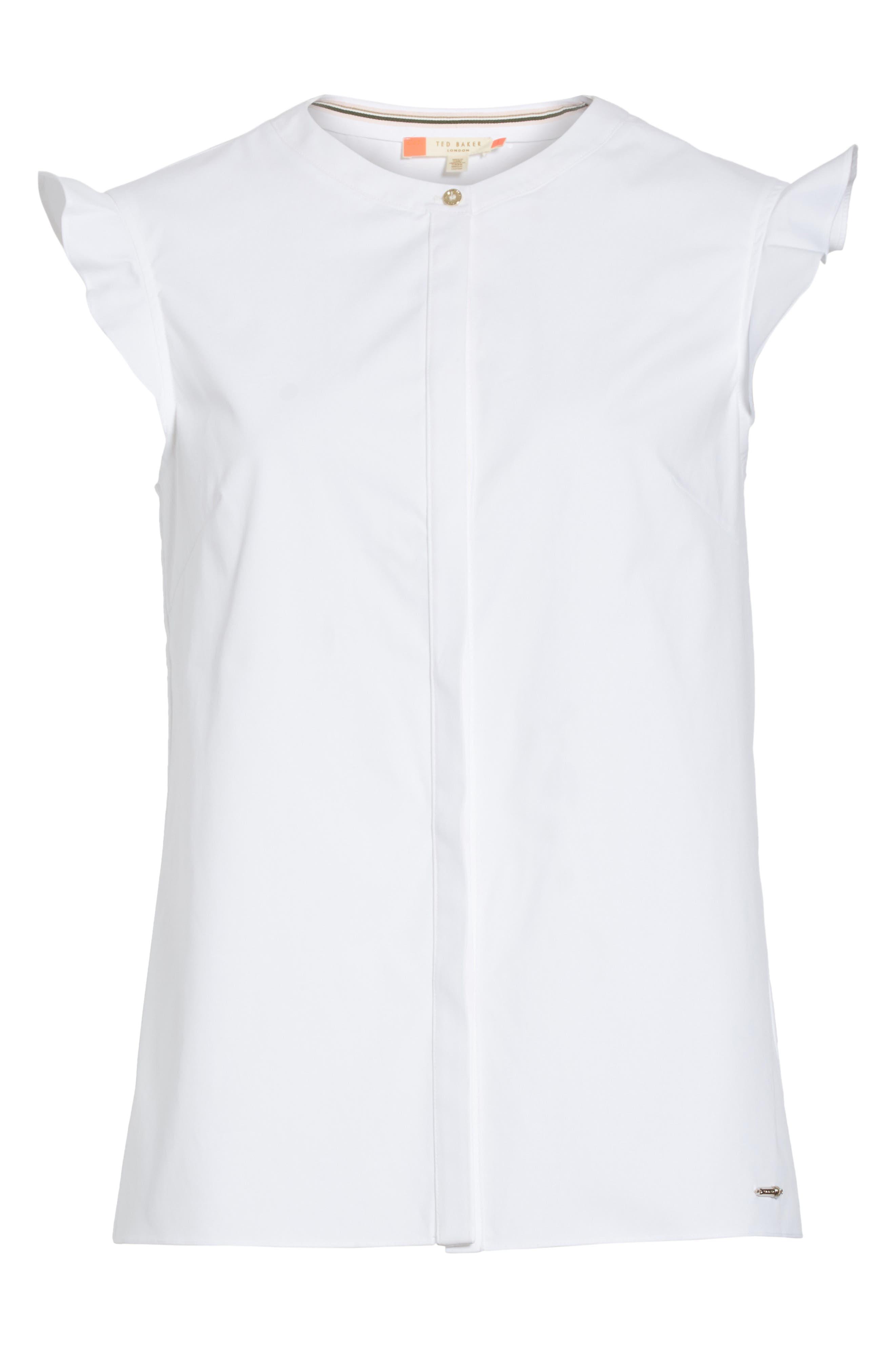 Veryien Ruffle Trim Shirt,                             Alternate thumbnail 6, color,                             110