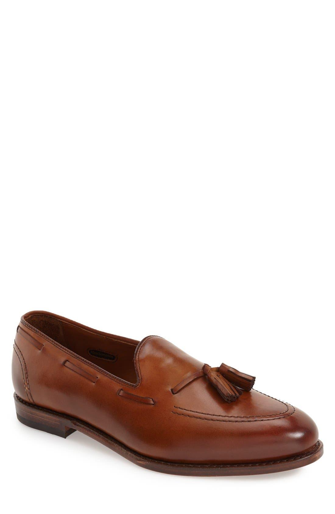 Mens Vintage Style Shoes & Boots| Retro Classic Shoes Mens Allen Edmonds Acheson Tassel Loafer Size 15 D - Brown $395.00 AT vintagedancer.com
