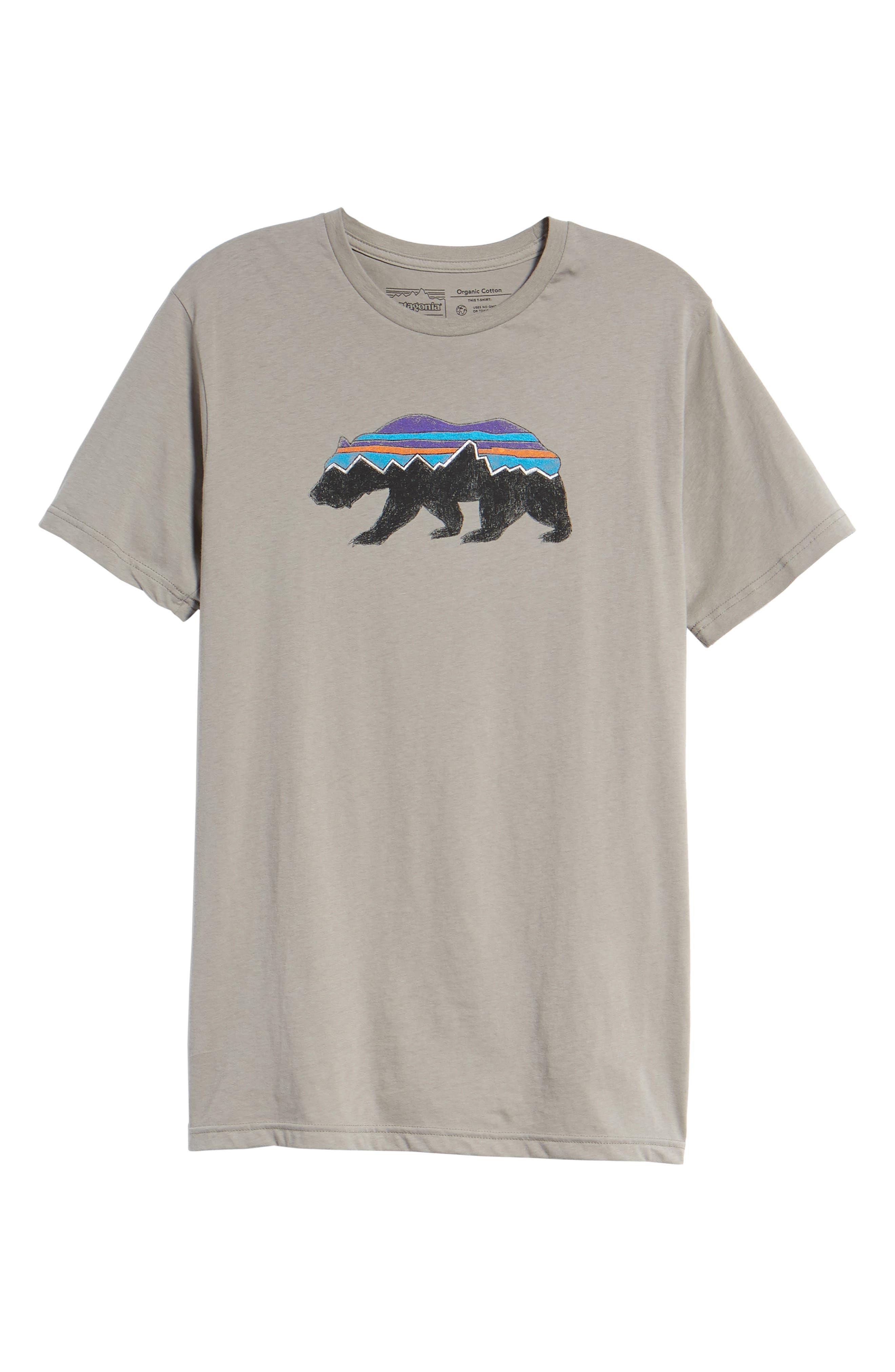 Fitz Roy Bear Crewneck T-Shirt,                             Alternate thumbnail 6, color,                             FEATHER GREY
