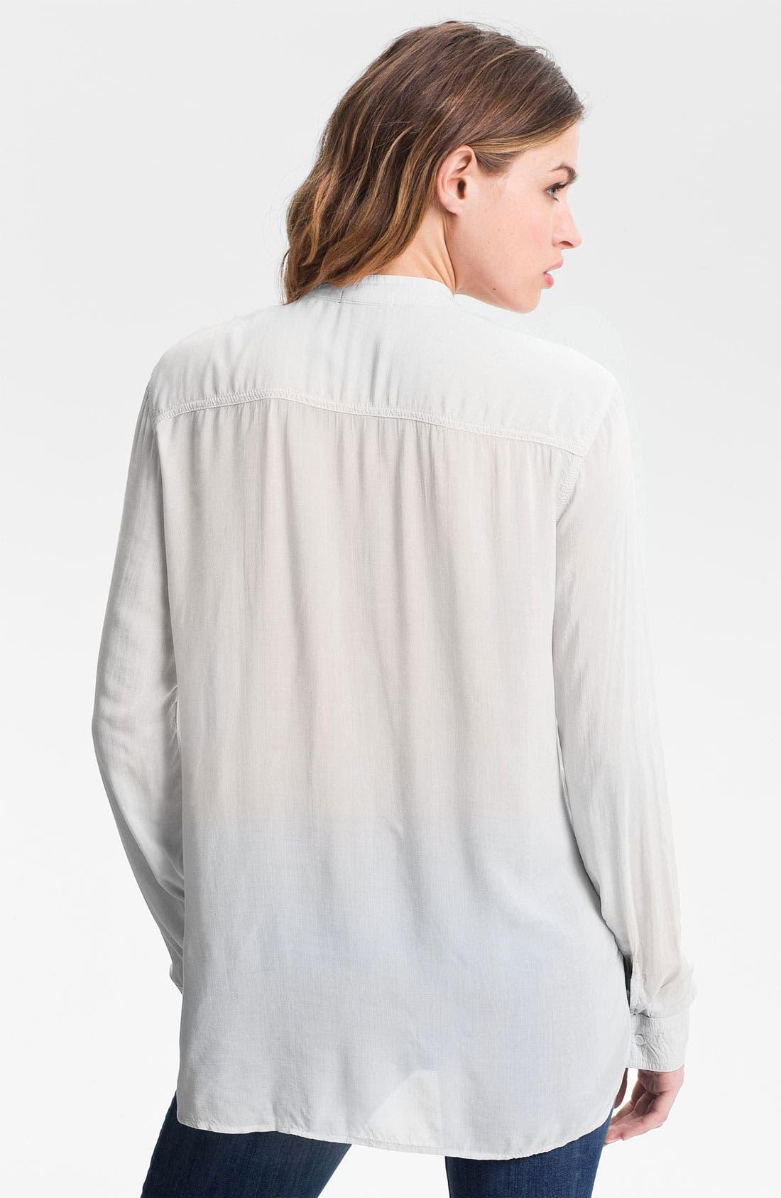 Collarless Pocket Shirt,                             Alternate thumbnail 5, color,