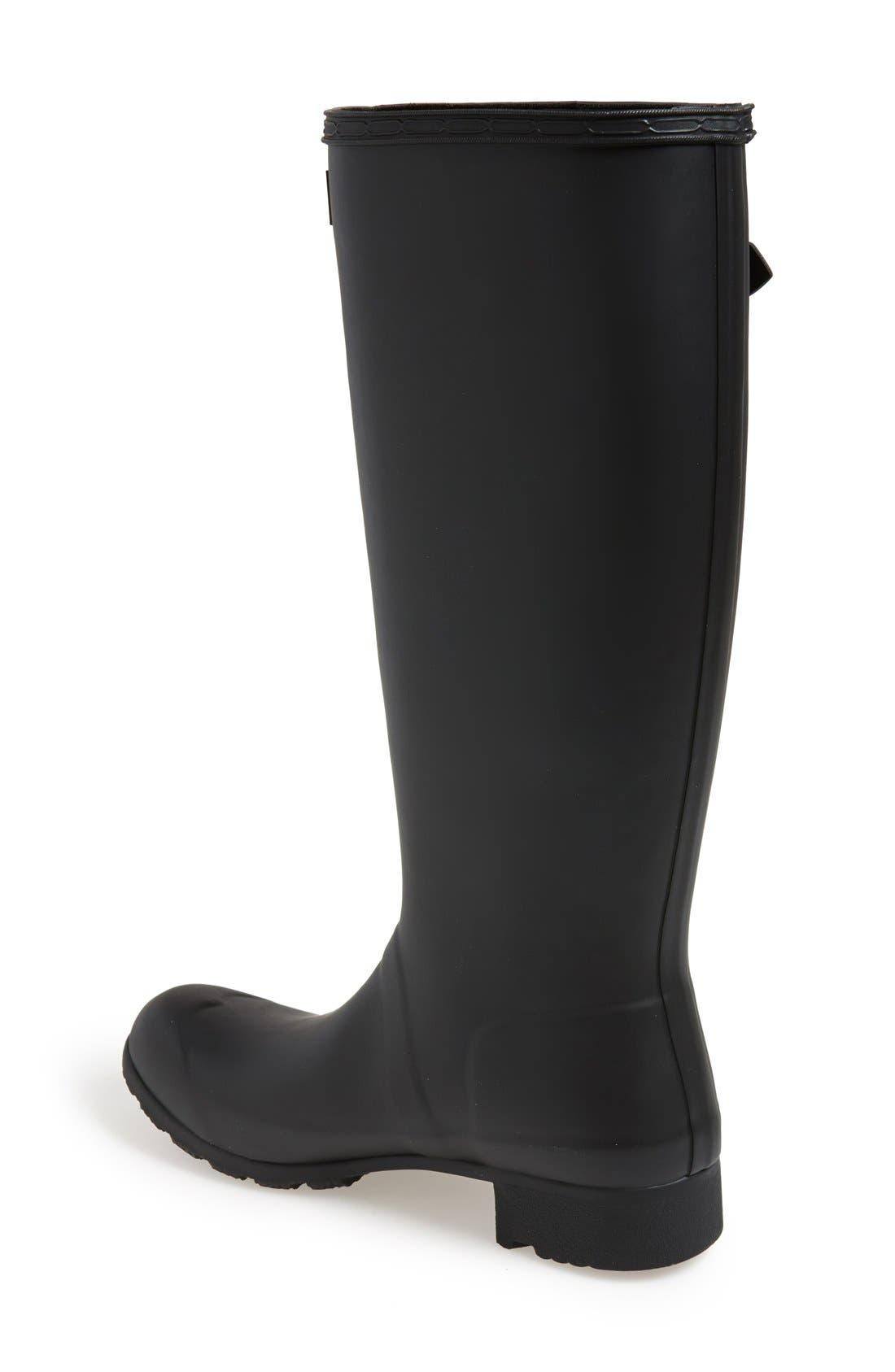 Tour Packable Rain Boot,                             Alternate thumbnail 3, color,                             BLACK/ BLACK