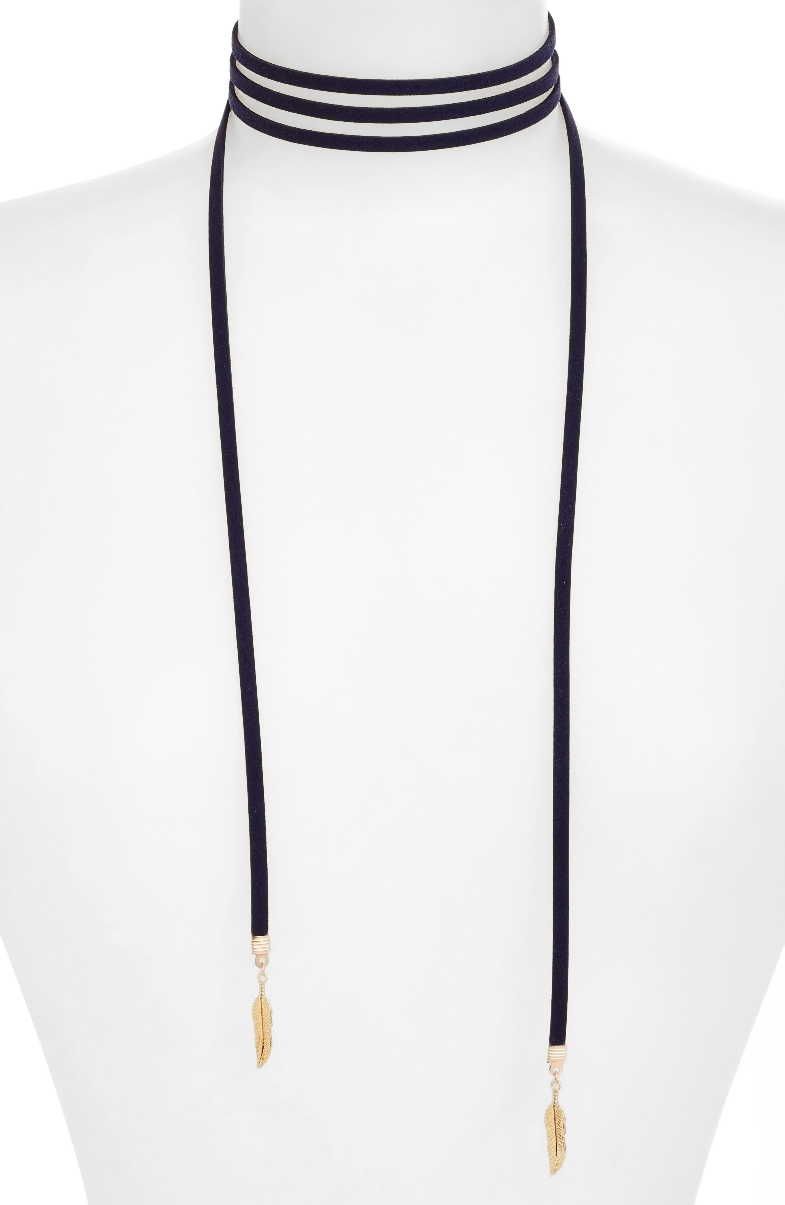 Kale Wrap Choker Necklace,                         Main,                         color, 710