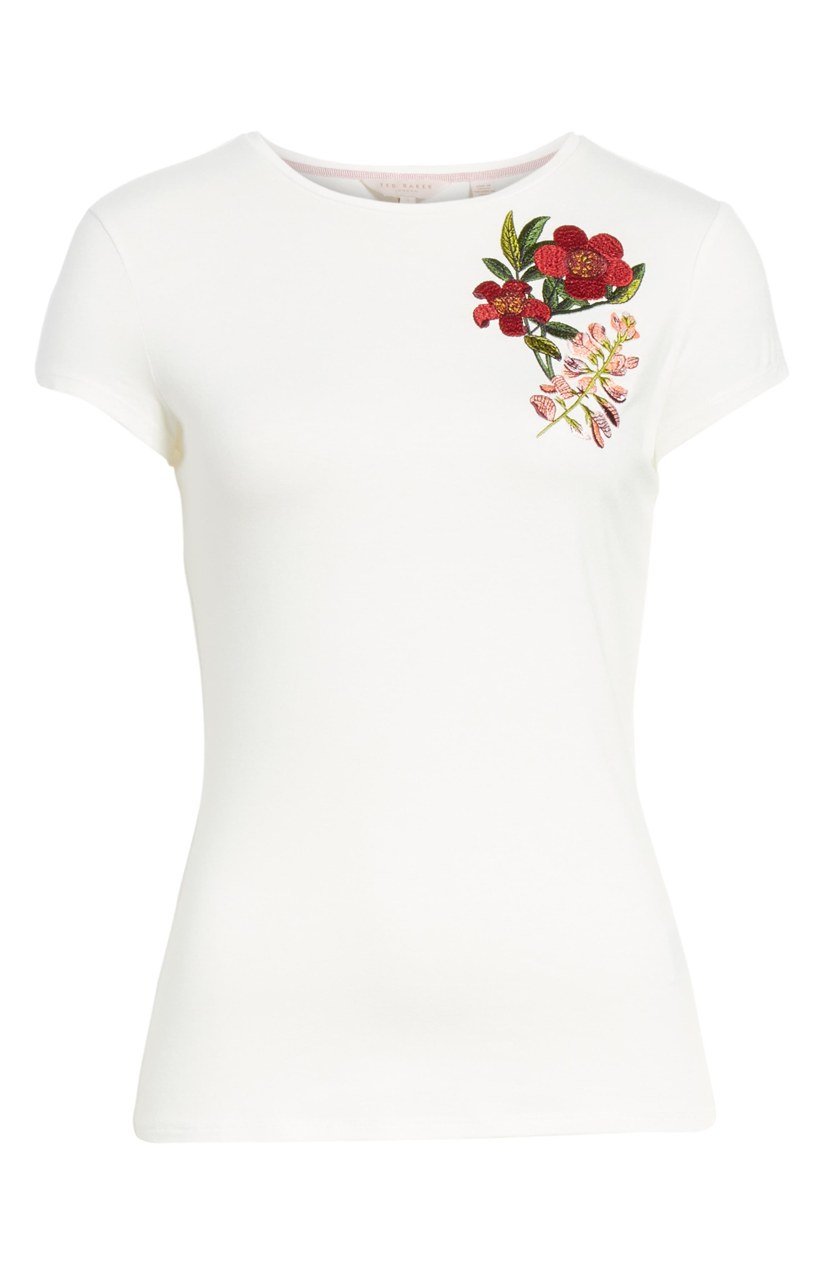 Laylar Kirstenbosch Embroidered Tee,                             Alternate thumbnail 6, color,                             905