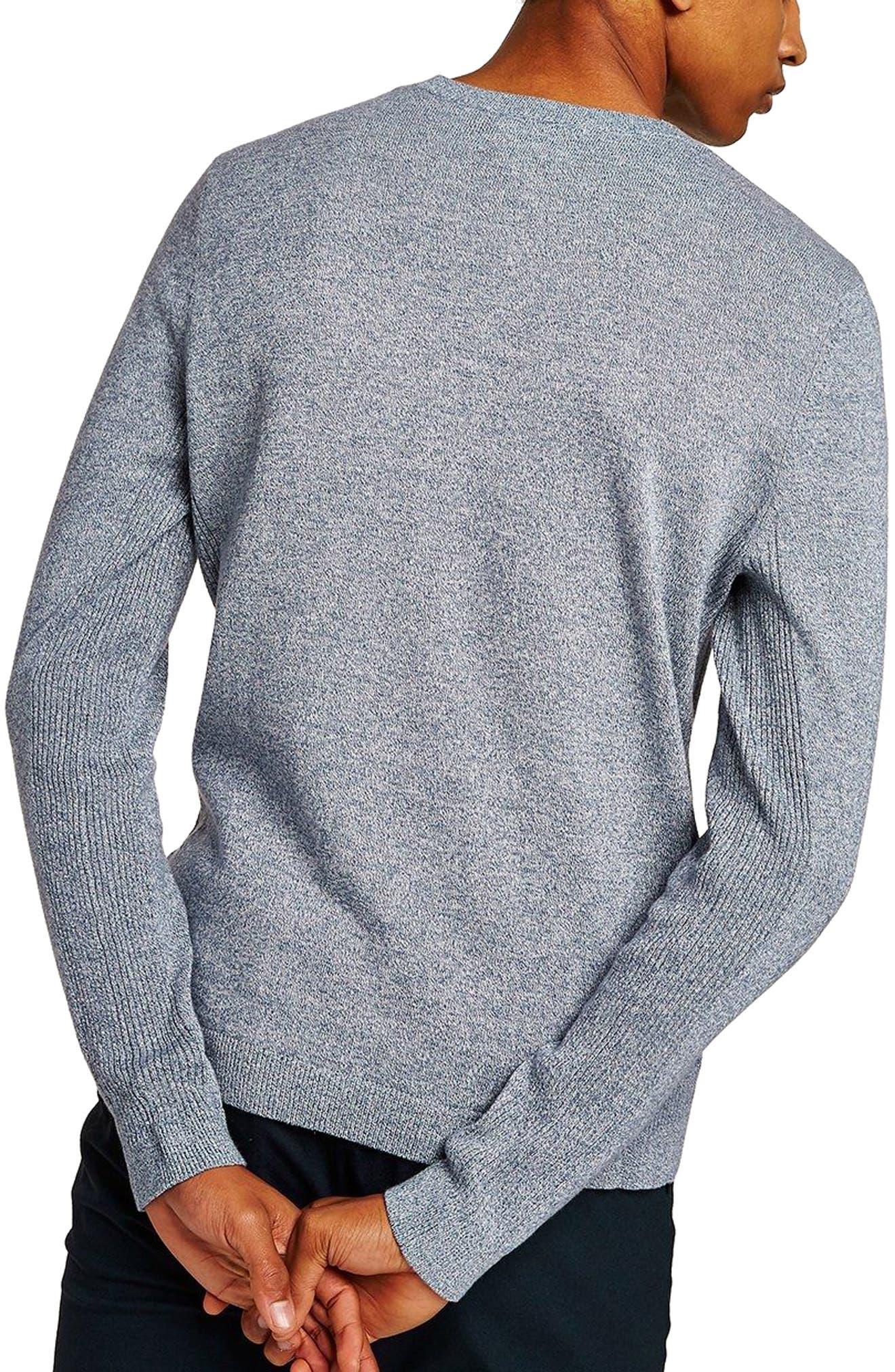 Side Rib Cotton Sweater,                             Alternate thumbnail 7, color,