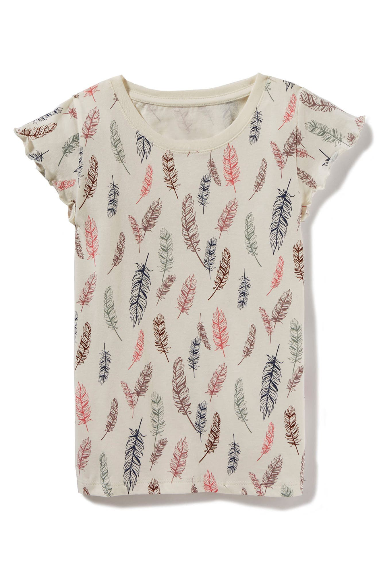 Feather Print Tee,                         Main,                         color,
