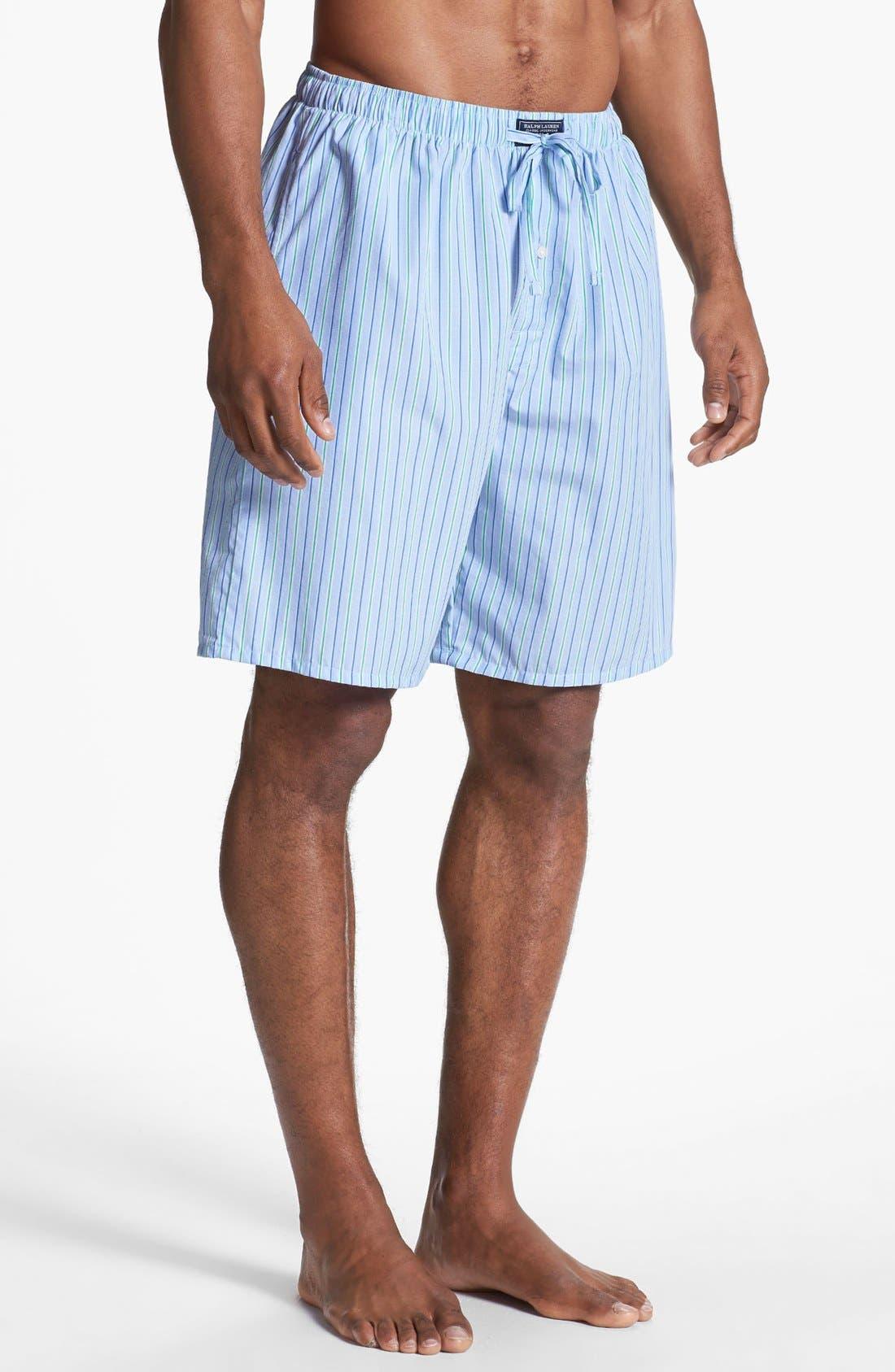 Cotton Pajama Shorts,                             Main thumbnail 1, color,                             BARI STRIPE