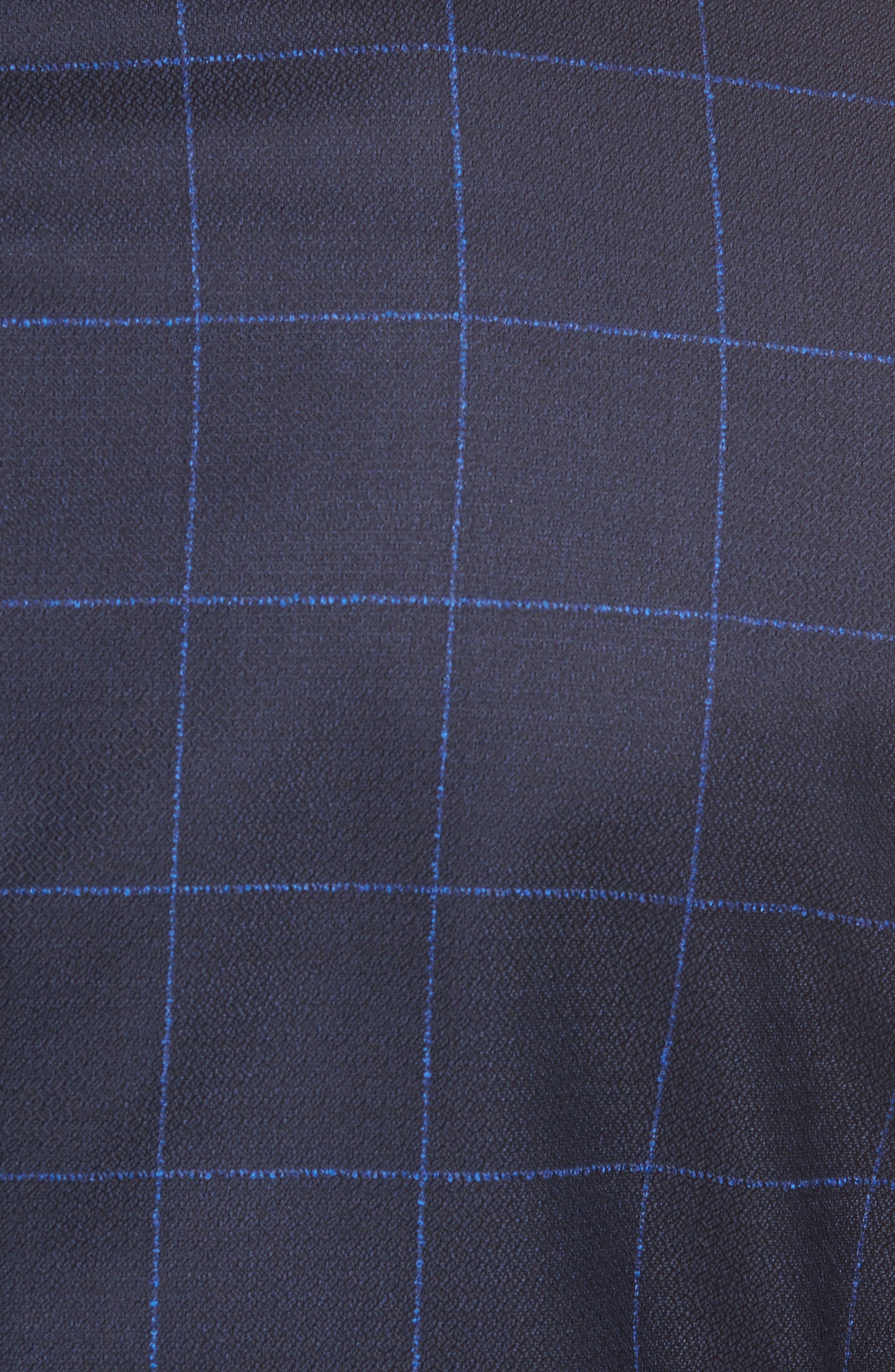 Nordstrom x BOSS Nobis Trim Fit Check Wool Sport Coat,                             Alternate thumbnail 6, color,