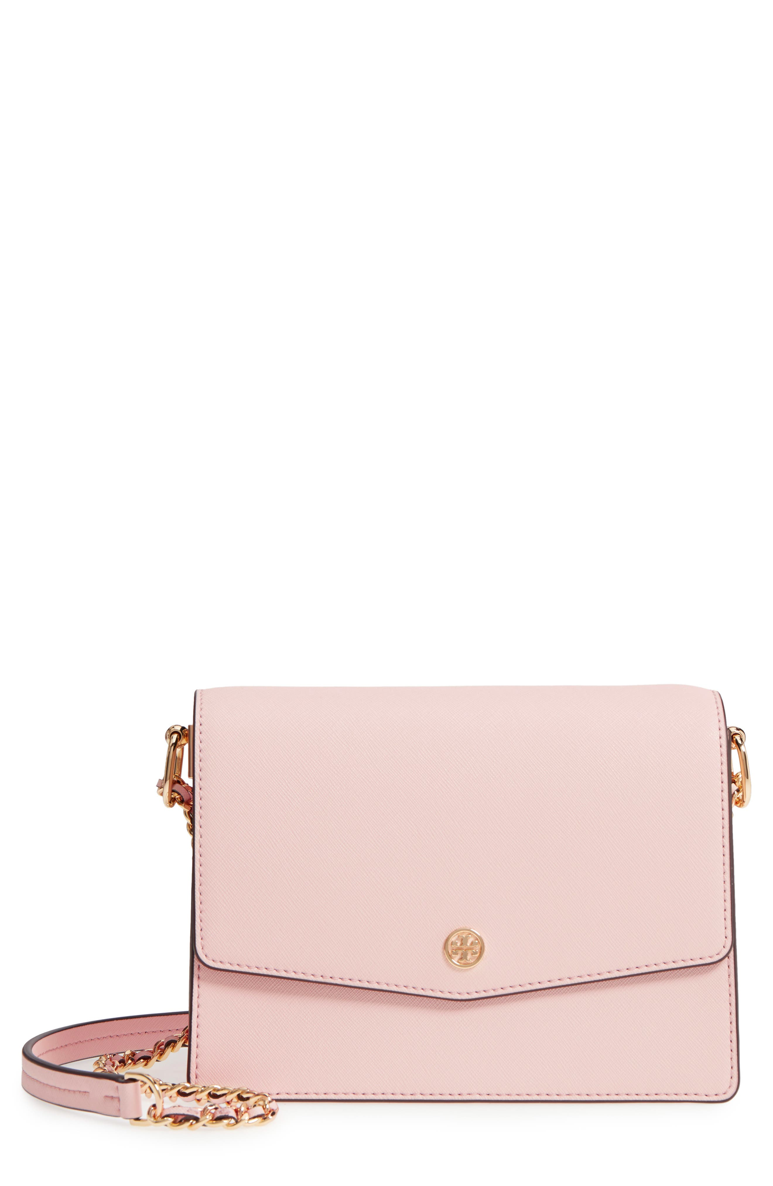 TORY BURCH Robinson Convertible Leather Shoulder Bag, Main, color, 650