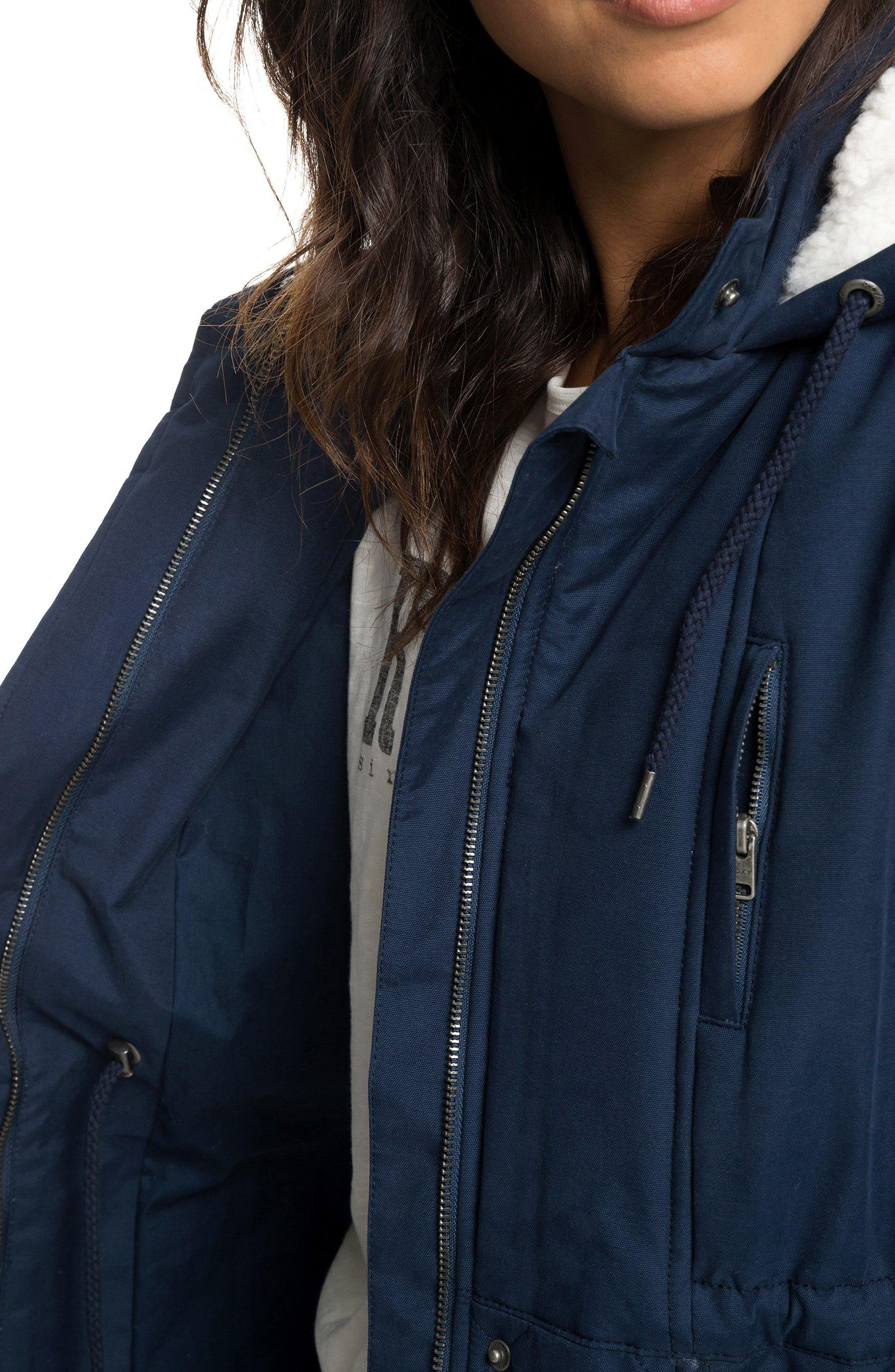 Slalom Chic Faux Shearling Trim Waterproof Parka,                             Alternate thumbnail 9, color,                             DRESS BLUES