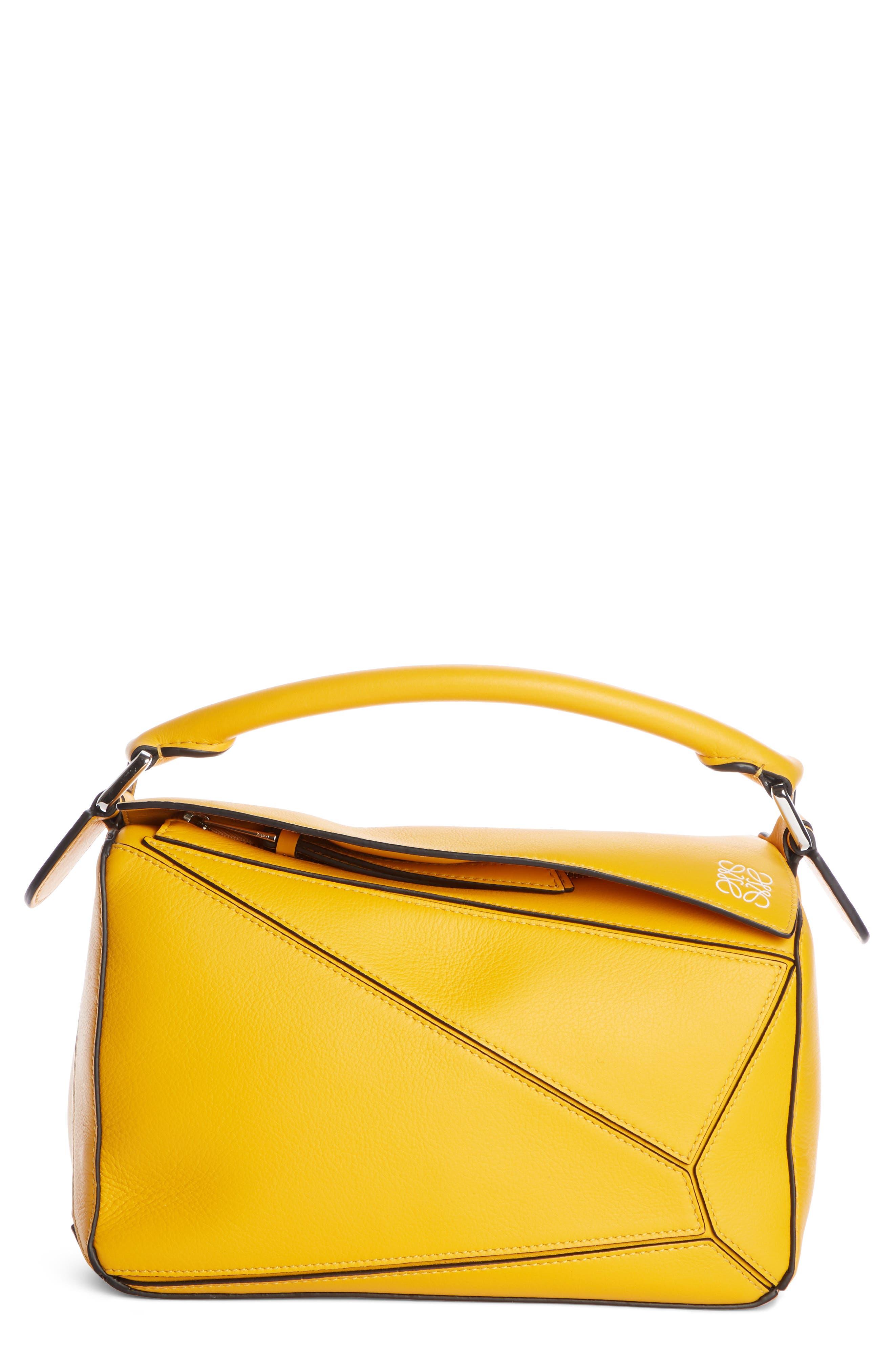 LOEWE,                             Small Puzzle Shoulder Bag,                             Main thumbnail 1, color,                             YELLOW MANGO
