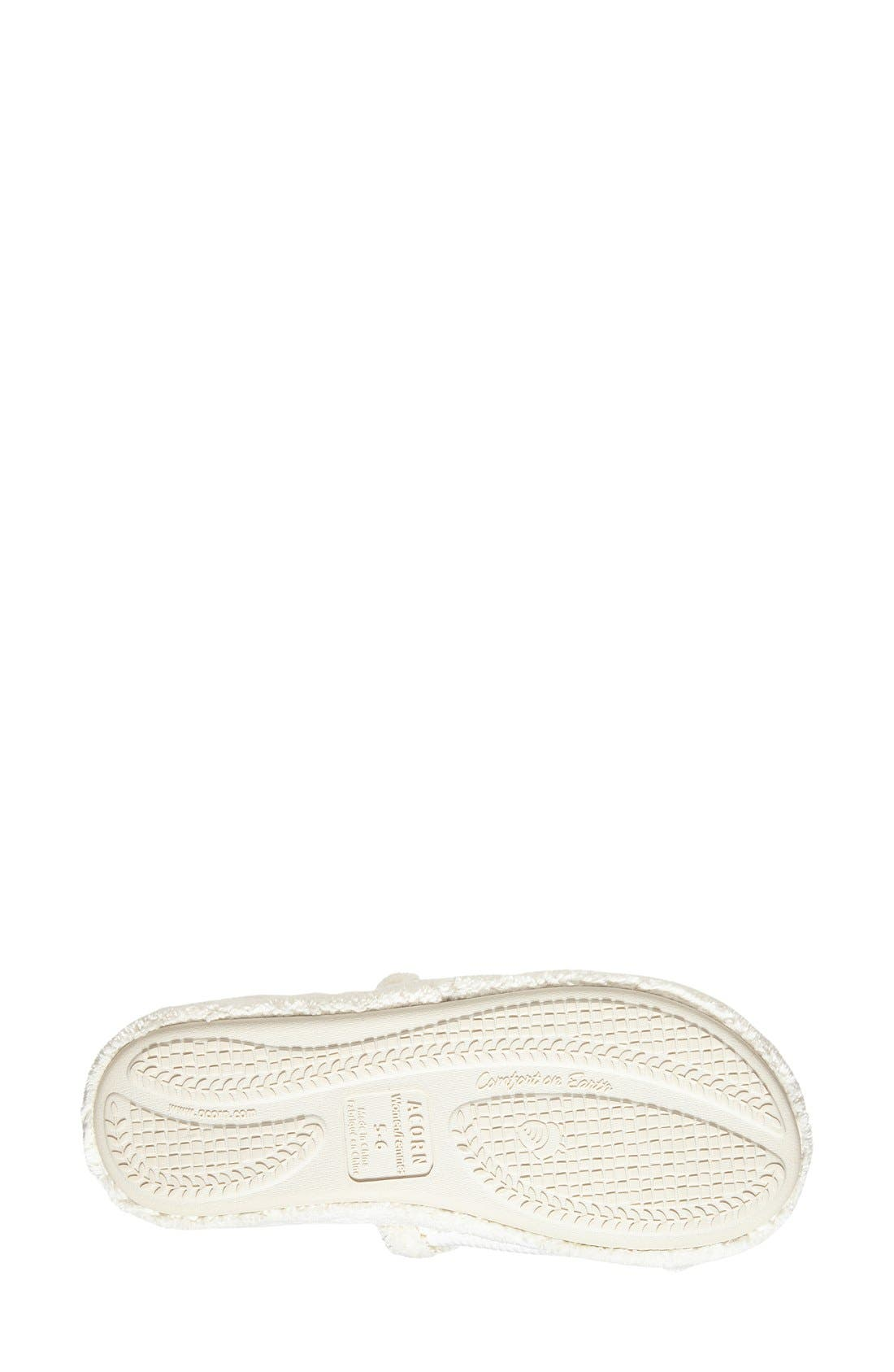 'Waffle Spa Slide' Slipper,                             Alternate thumbnail 4, color,                             NATURAL