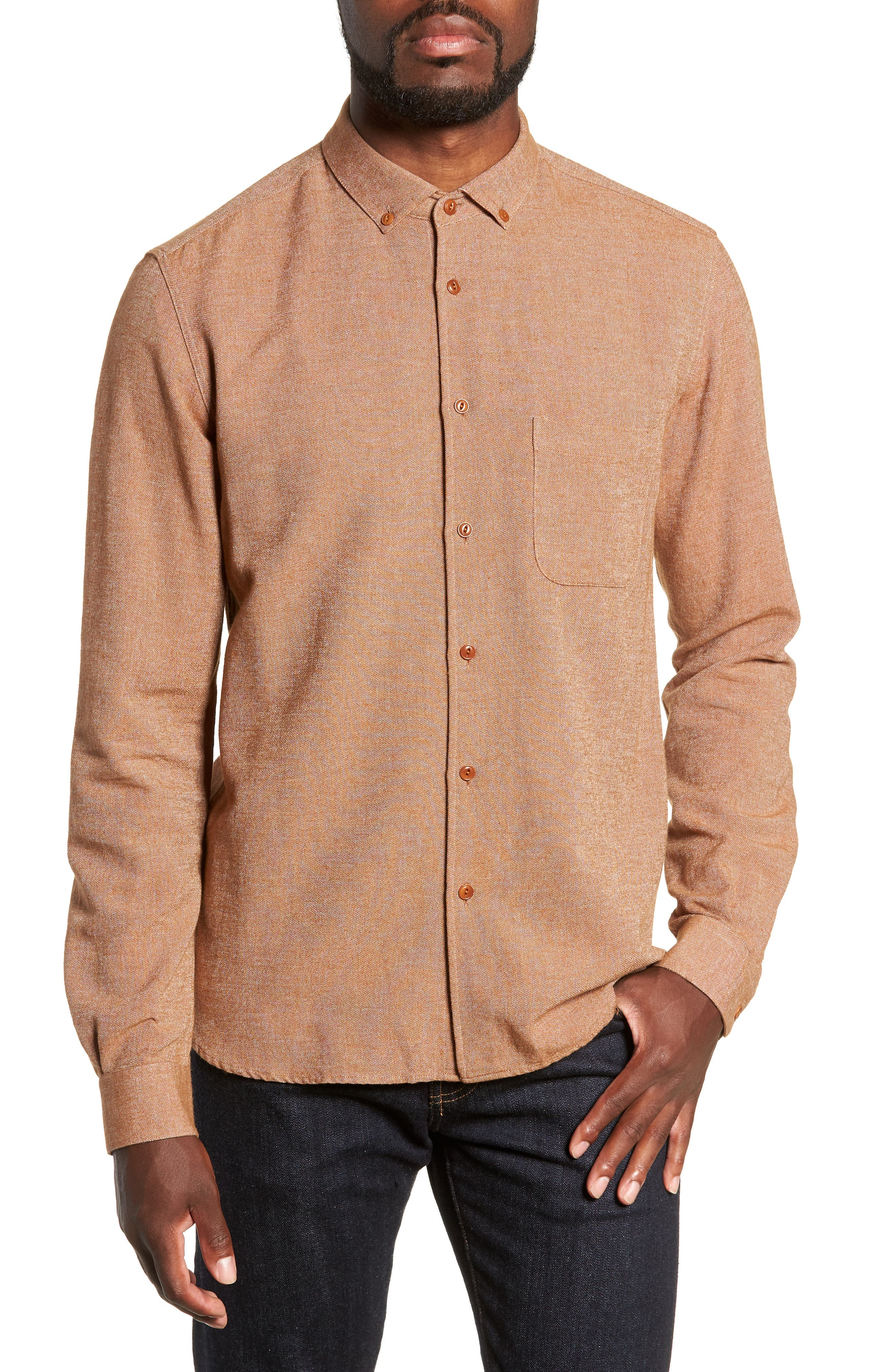 Dean Regular Fit Chambray Shirt,                         Main,                         color, 200