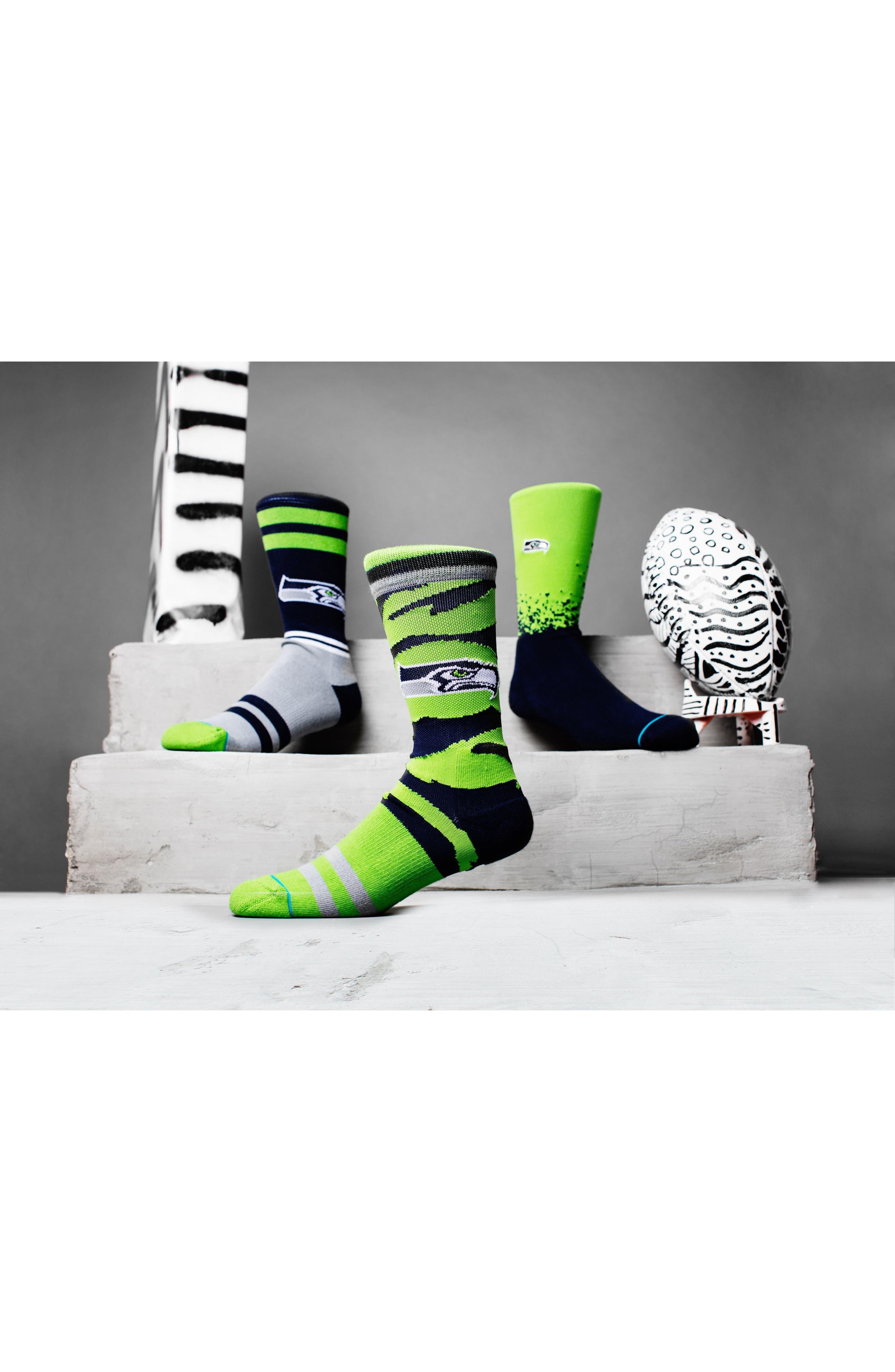 Seattle Seahawks - Fade Socks,                             Alternate thumbnail 5, color,                             300