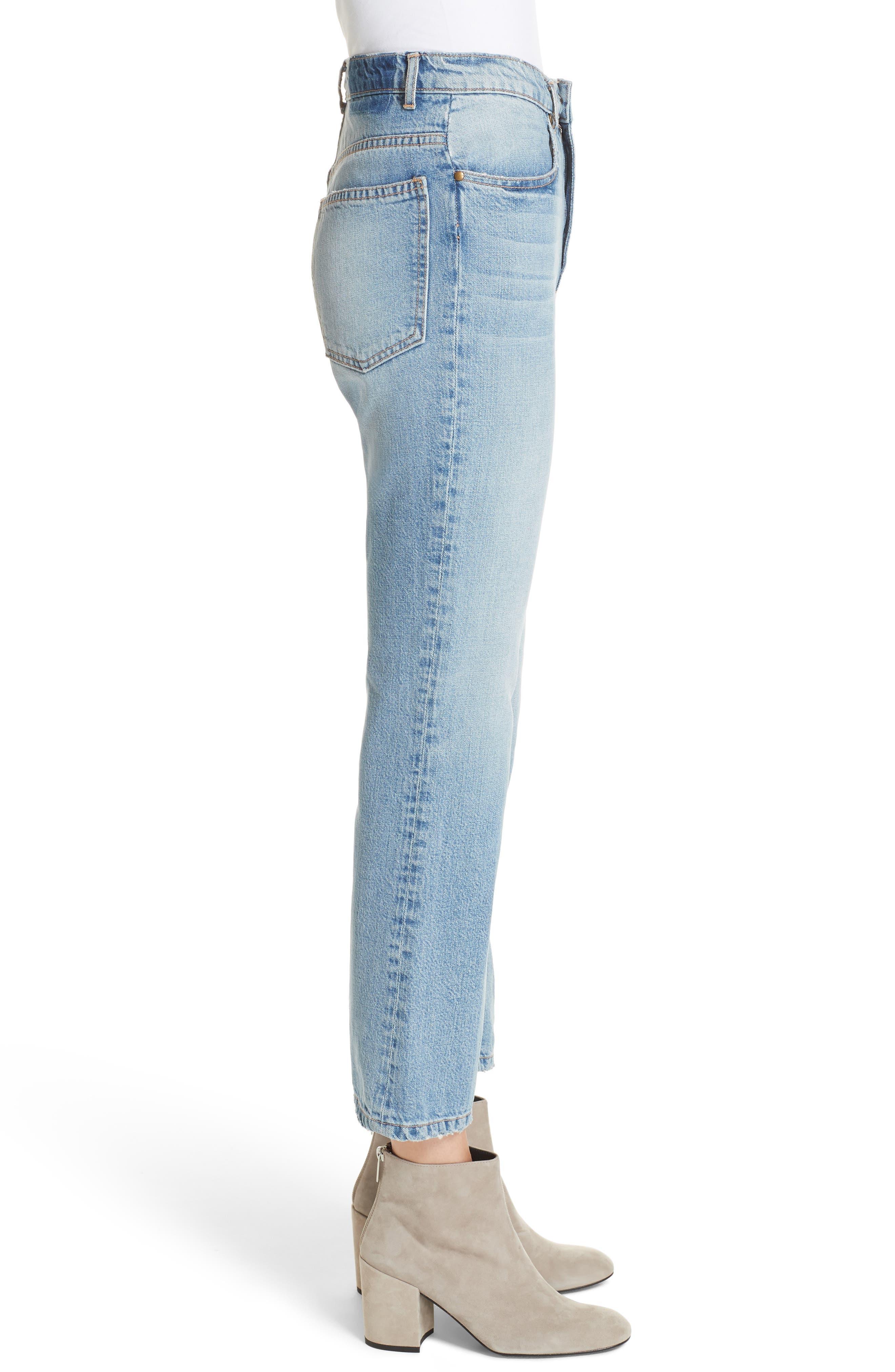 Western Crop Bootcut Jeans,                             Alternate thumbnail 3, color,                             400