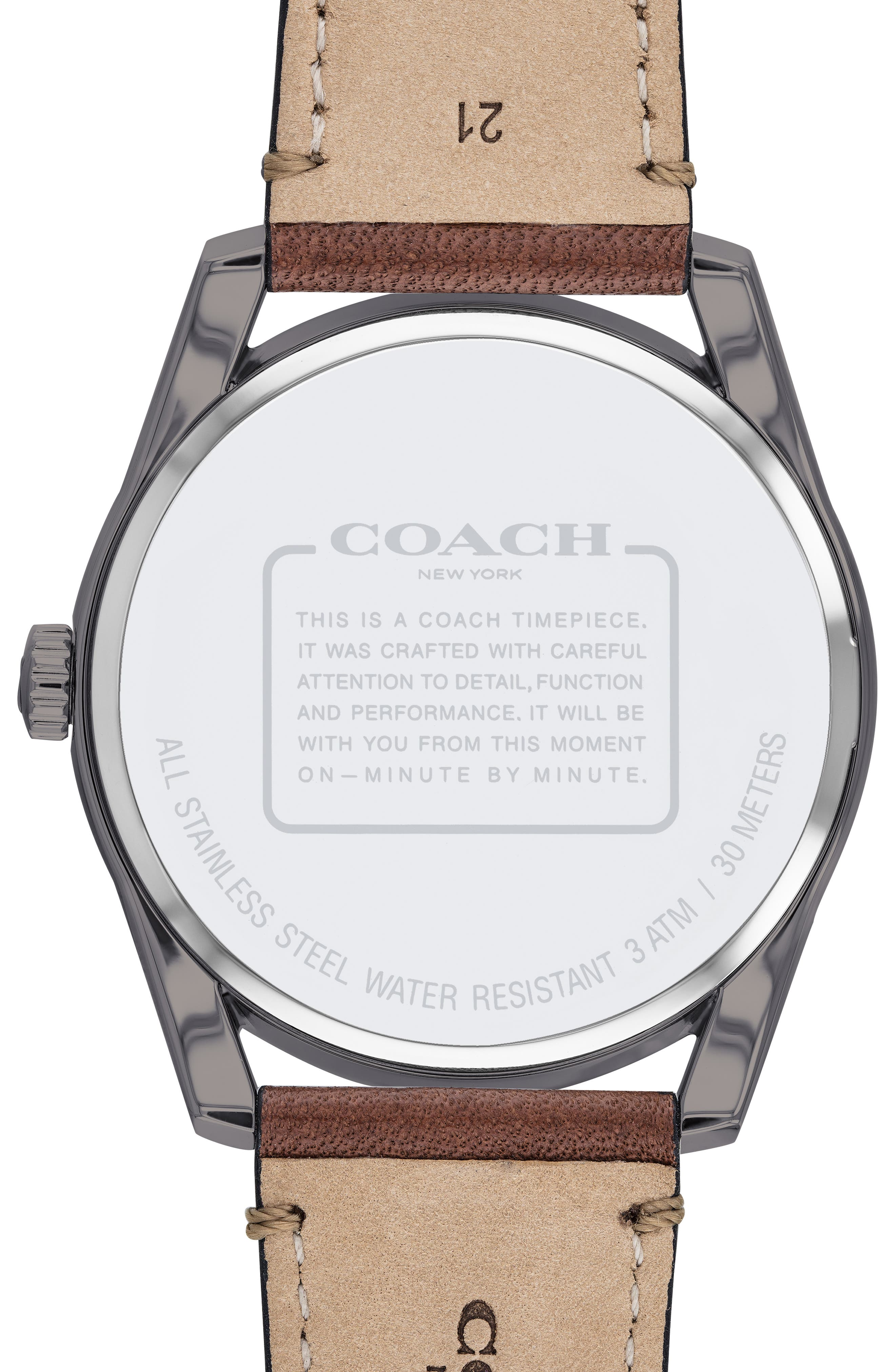 Preston Leather Strap Watch, 41mm,                             Alternate thumbnail 2, color,                             201