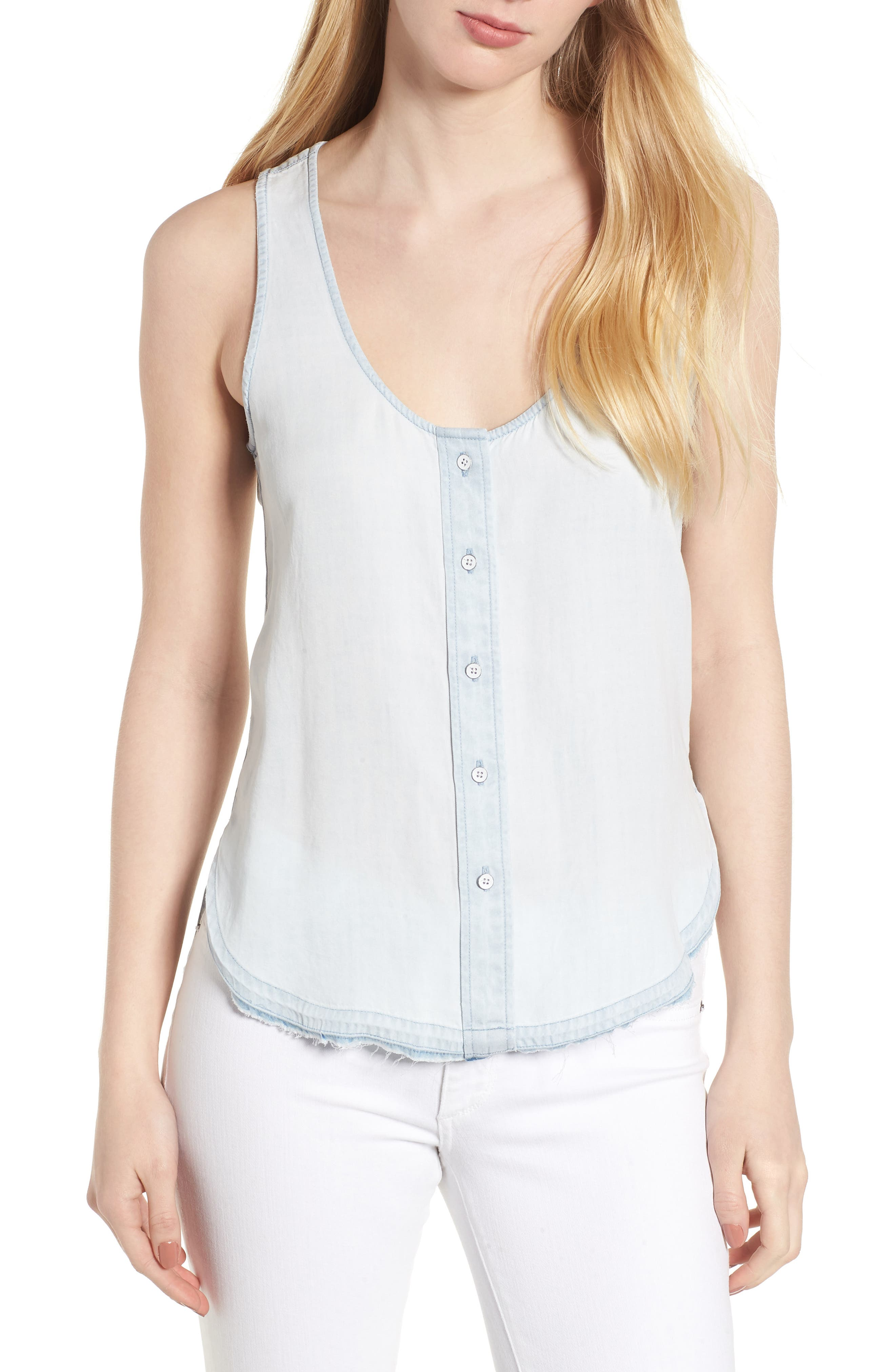 N 6th Berry Chambray Tank,                         Main,                         color, 430