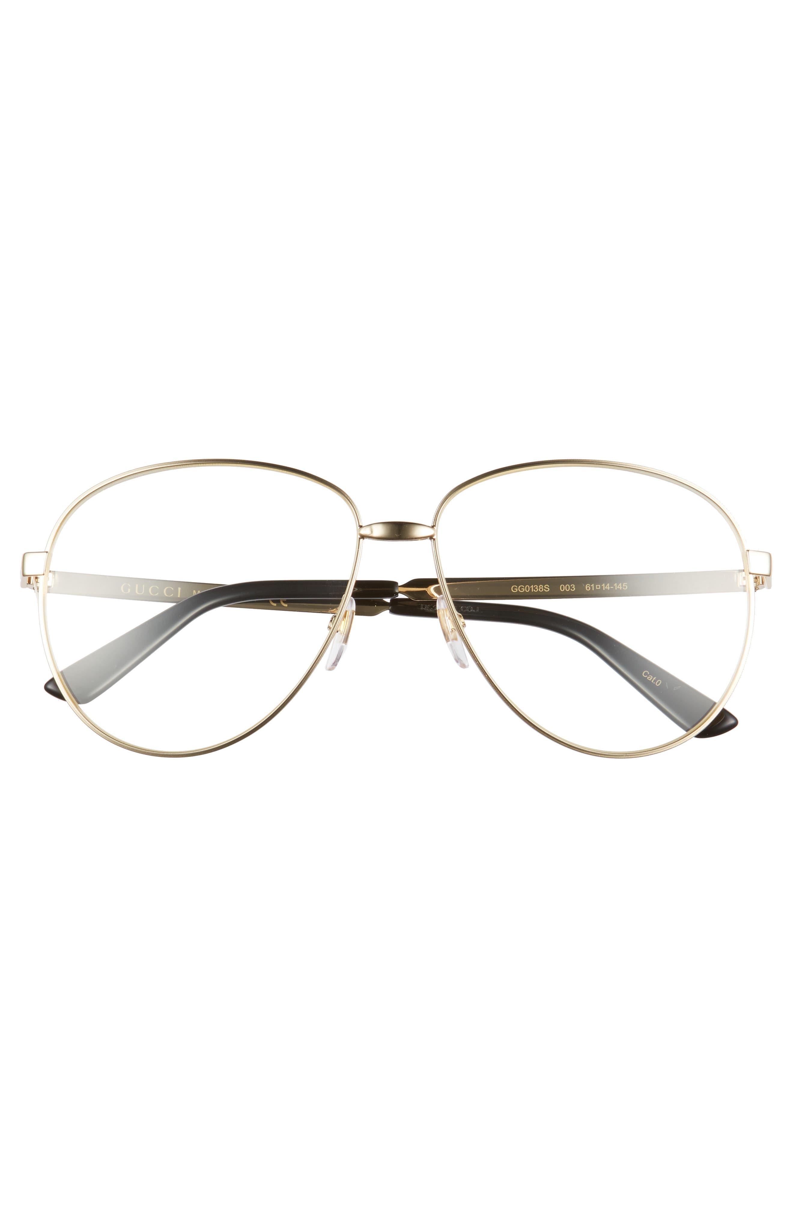 61mm Aviator Sunglasses,                             Alternate thumbnail 2, color,                             YELLOW ENDURA GOLD