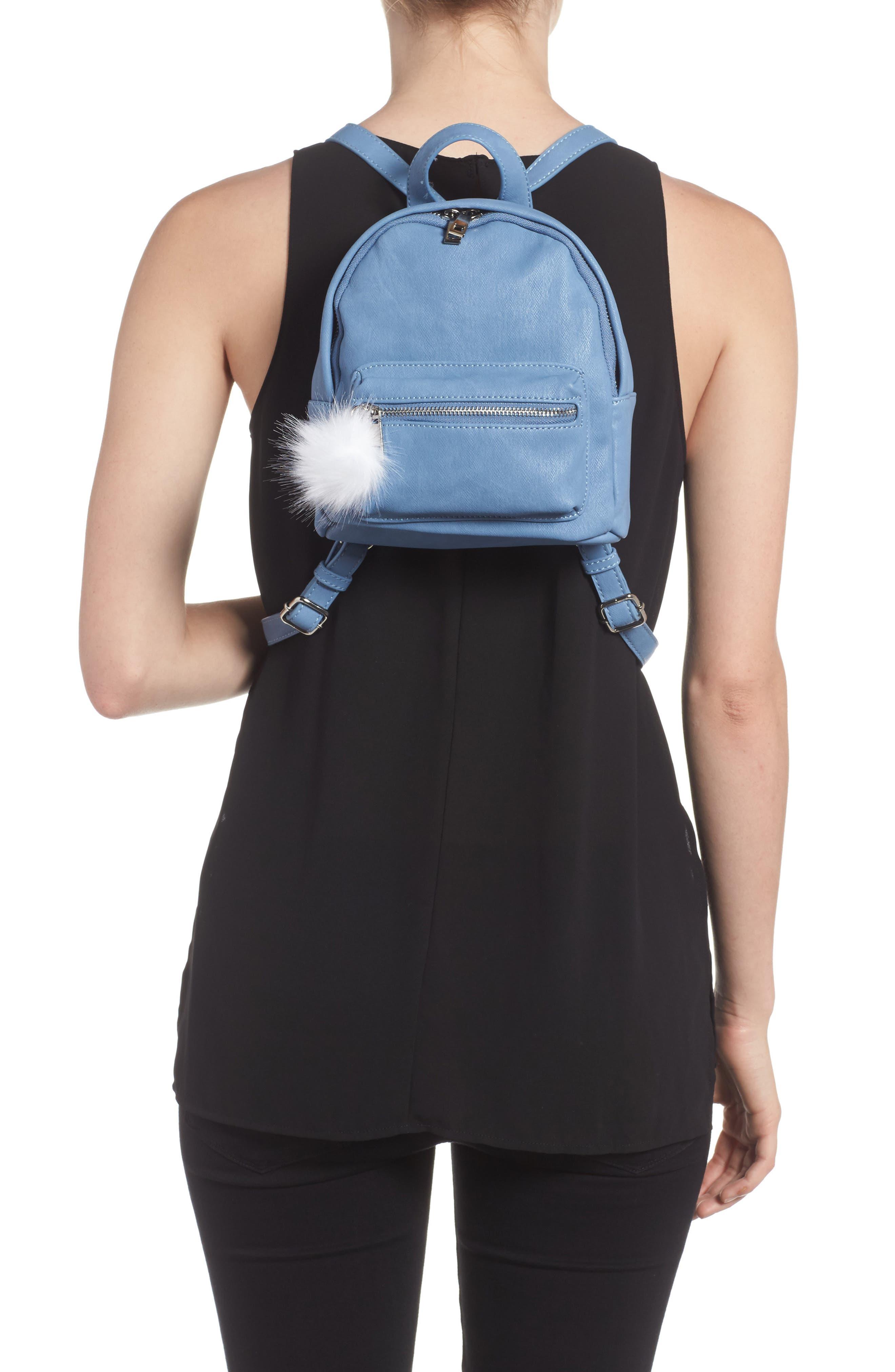 Faux Leather Mini Backpack,                             Alternate thumbnail 11, color,