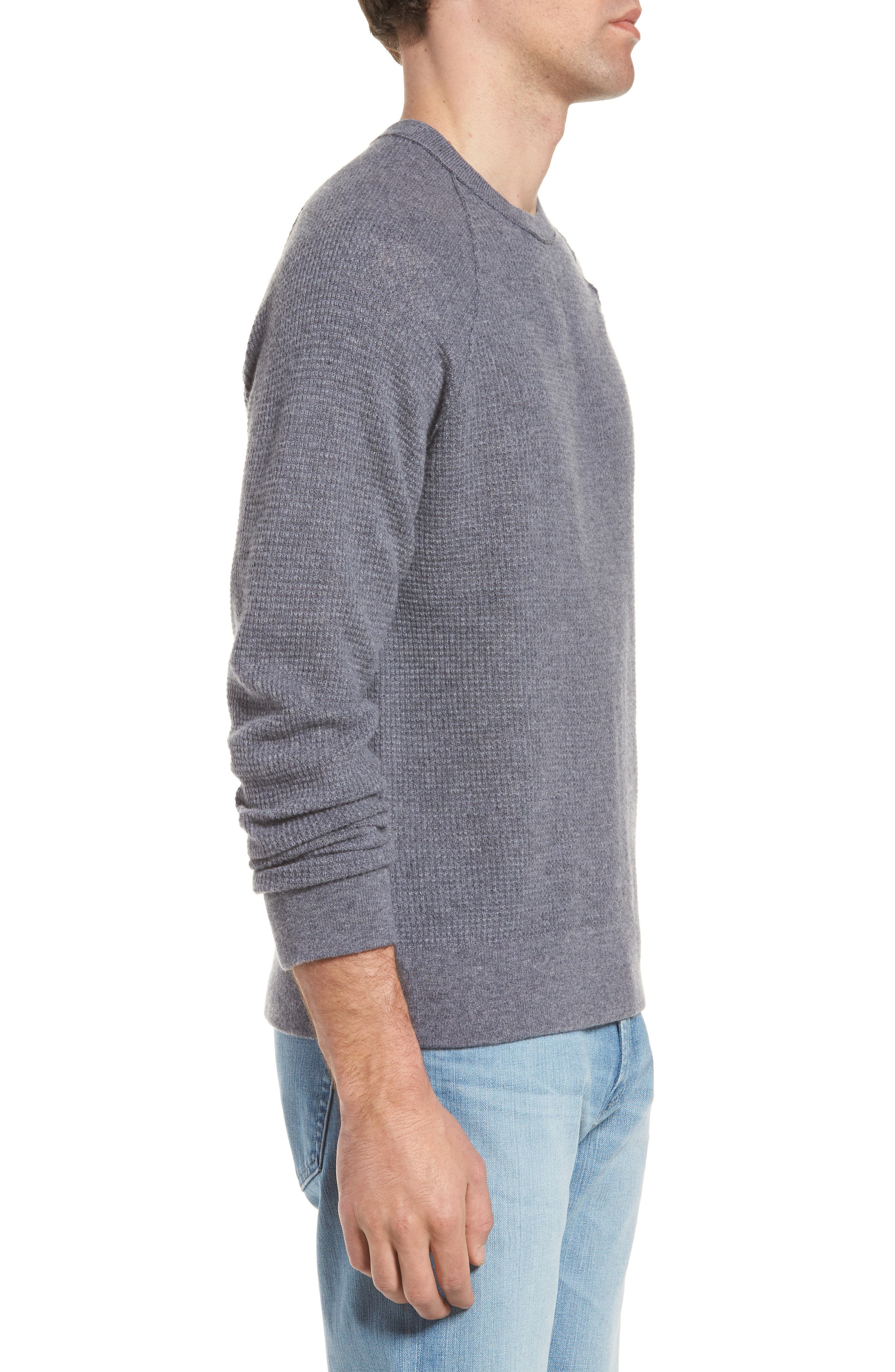 Thermal Cashmere Sweater,                             Alternate thumbnail 3, color,                             077