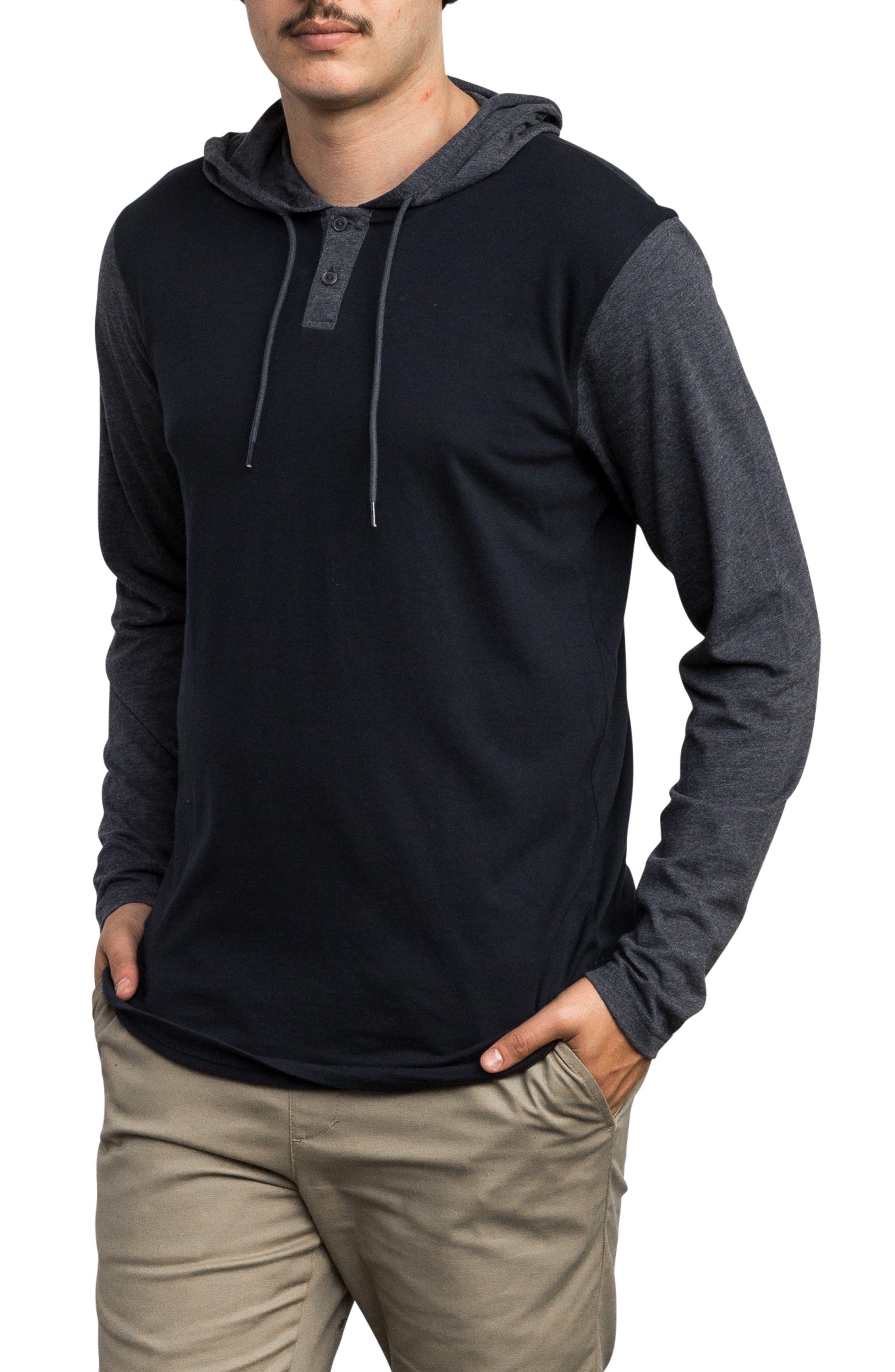 Pick Up Hooded Henley Sweatshirt,                             Alternate thumbnail 3, color,                             NEW NAVY