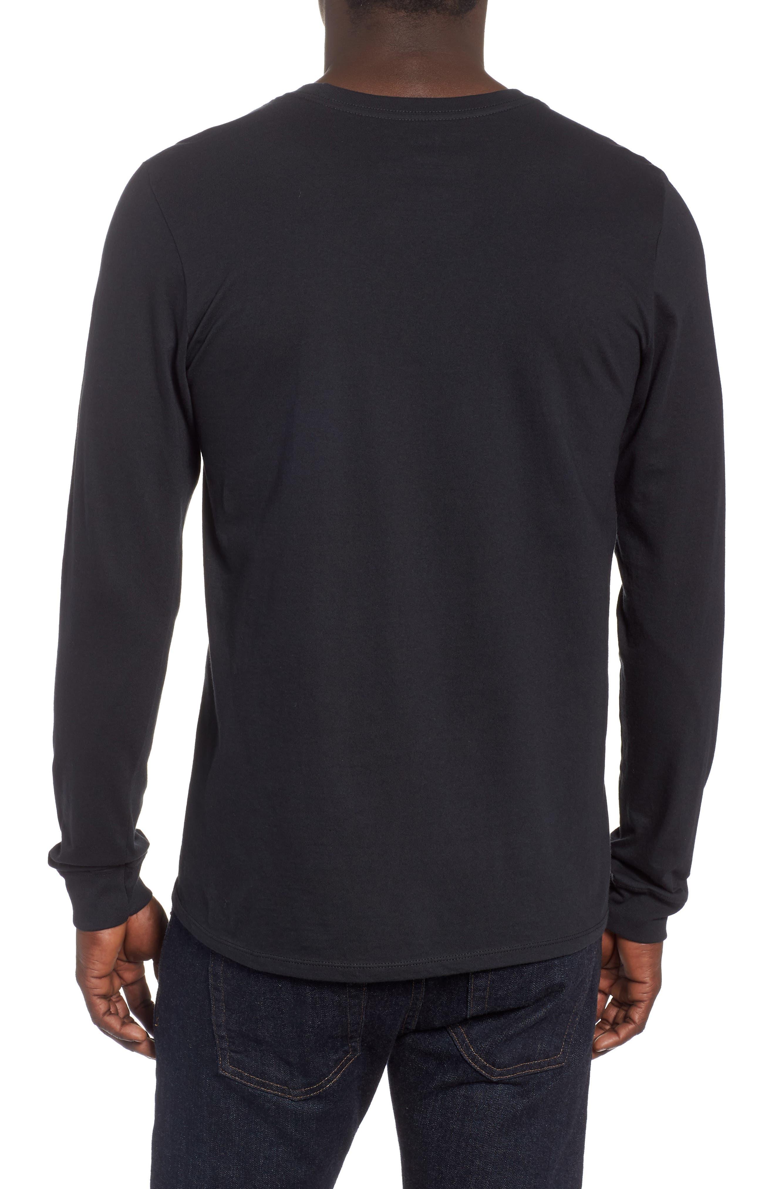 Tread Lightly Long Sleeve T-Shirt,                             Alternate thumbnail 2, color,                             BLACK