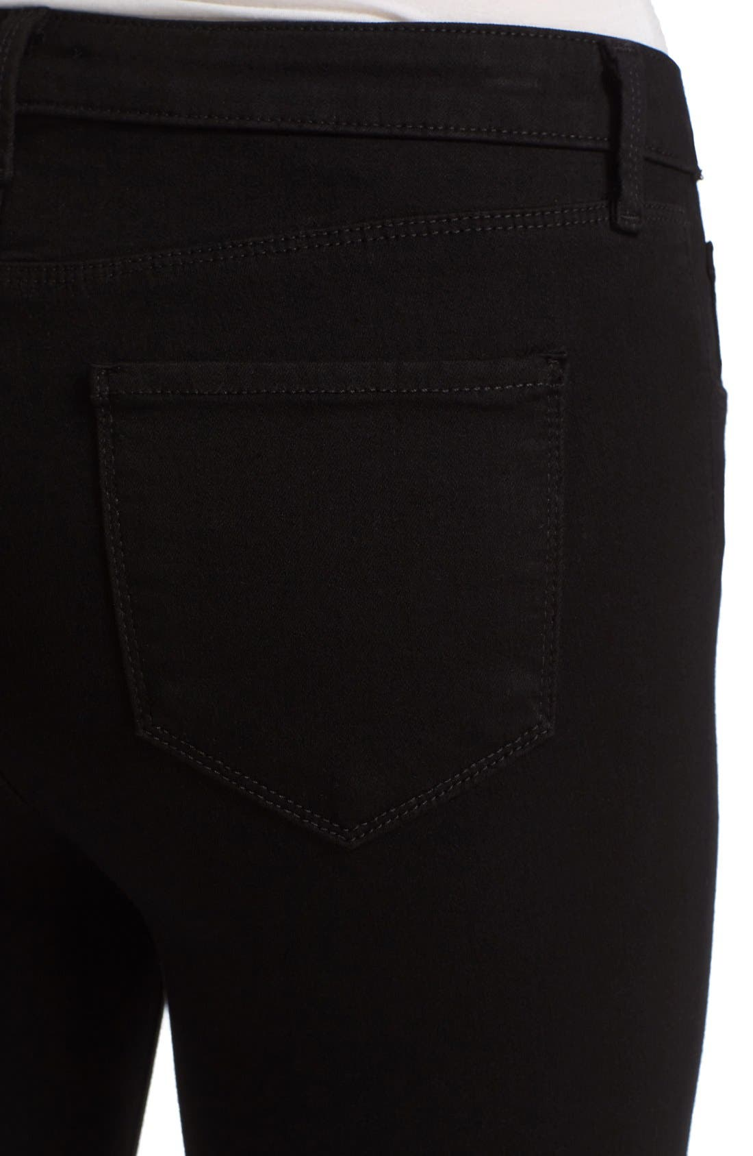 'Andrea' Ankle Zip Skinny Jeans,                             Alternate thumbnail 5, color,                             001