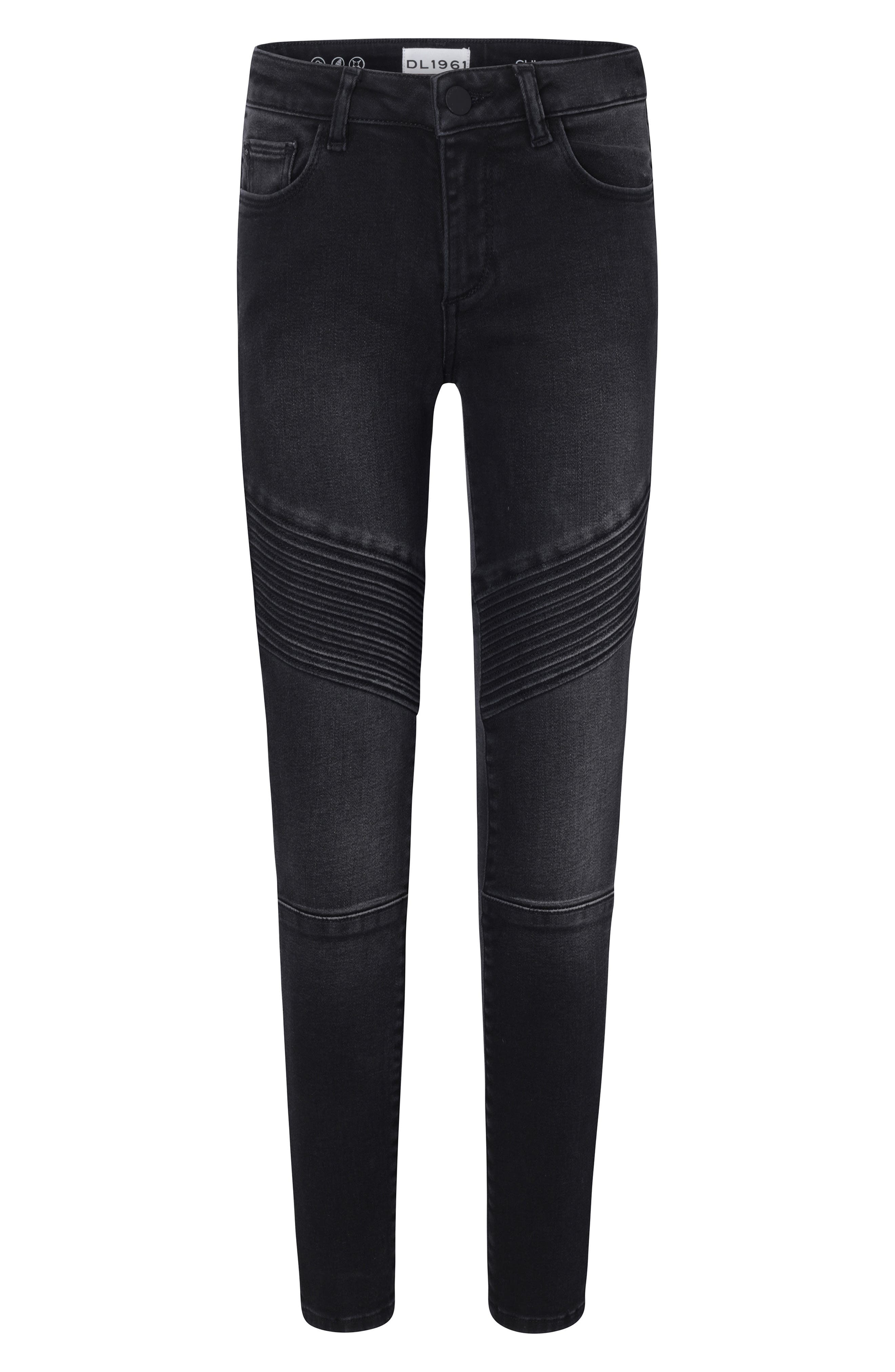 Chloe Moto Skinny Jeans,                             Main thumbnail 1, color,                             DUTCH