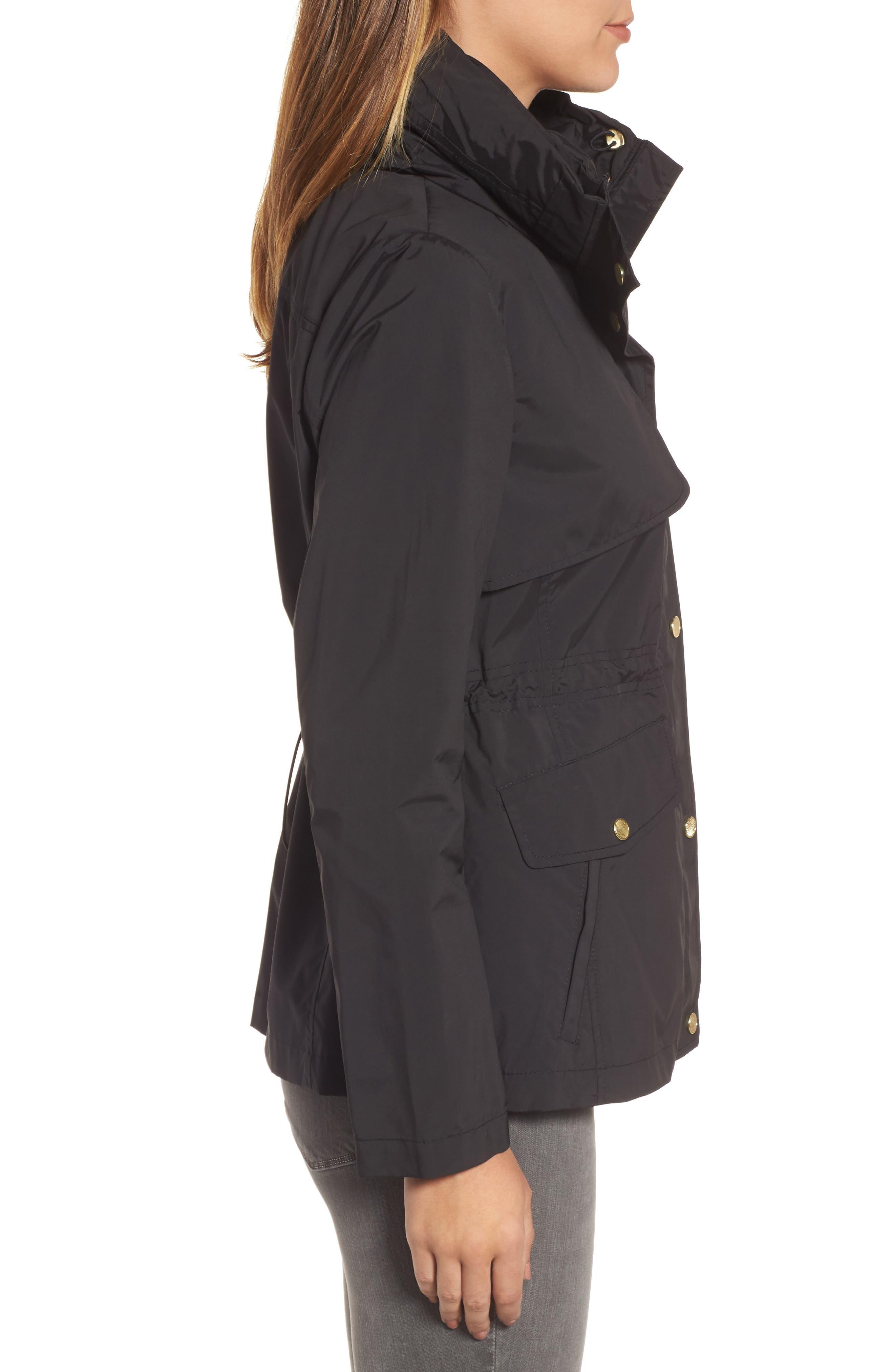 Packable Raincoat,                             Alternate thumbnail 3, color,                             BLACK