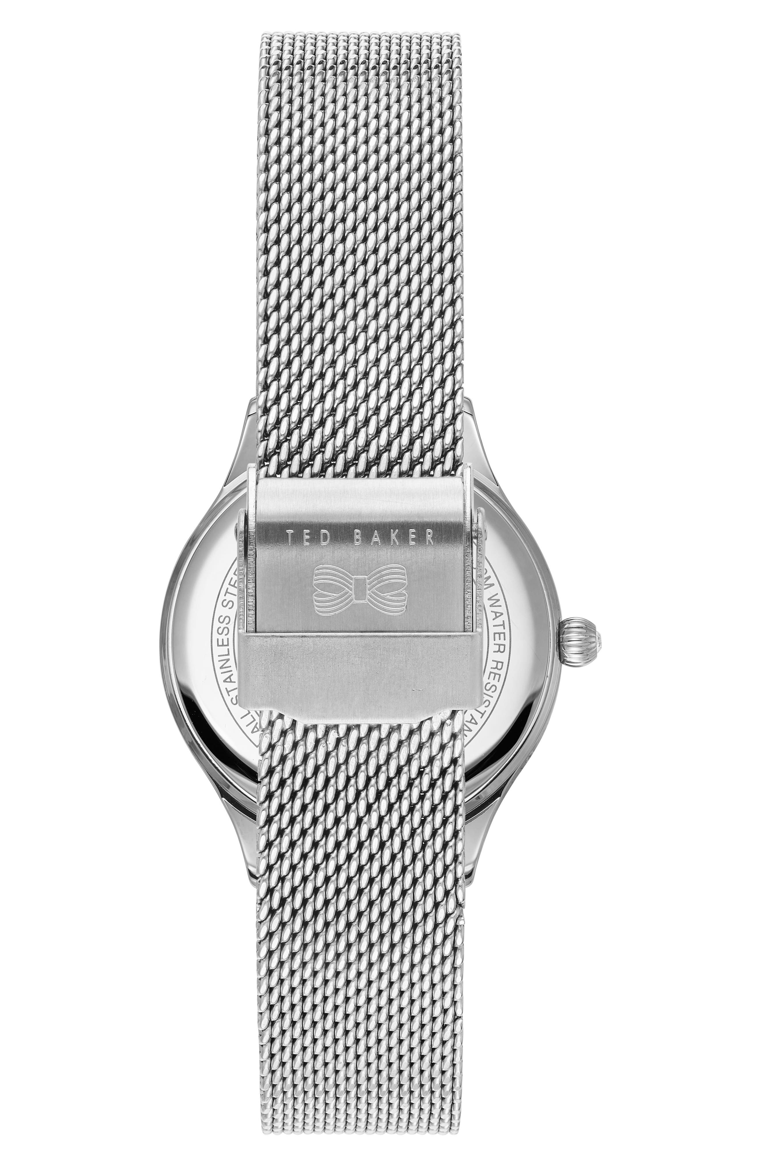 Zoe Mesh Strap Watch, 32mm,                             Alternate thumbnail 2, color,                             040
