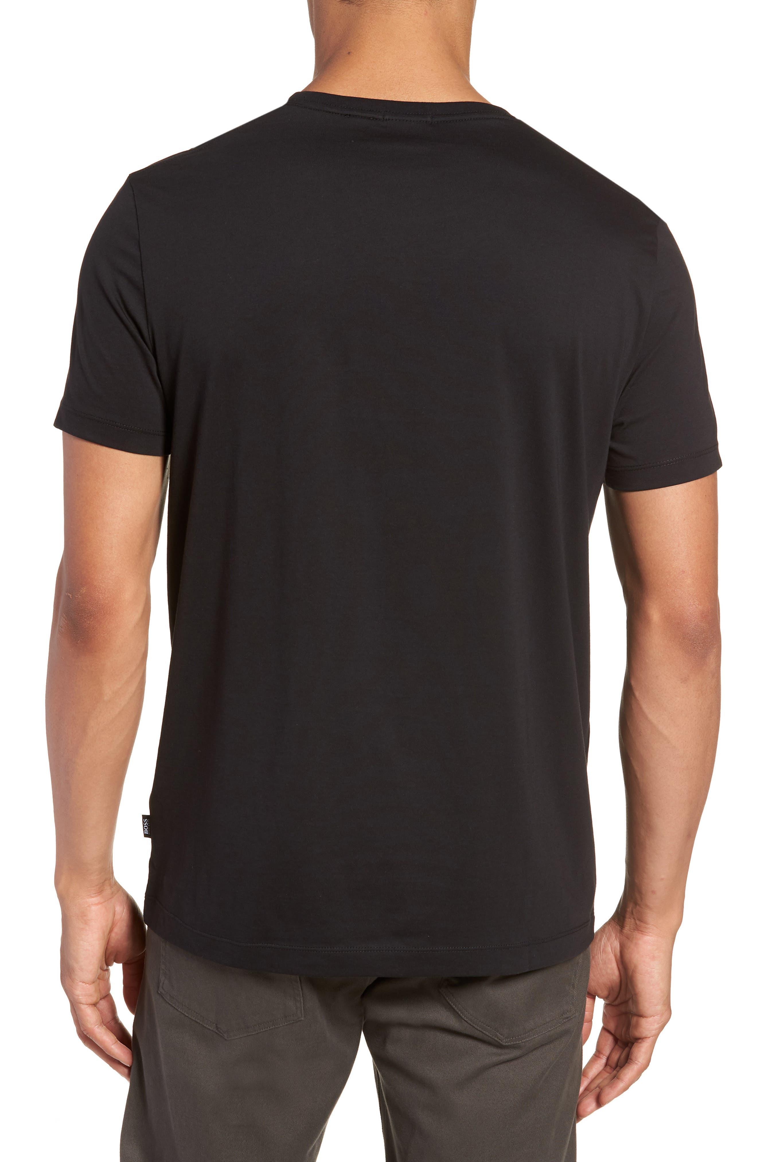 Tiburt Regular Fit Crewneck T-Shirt,                             Alternate thumbnail 2, color,                             001