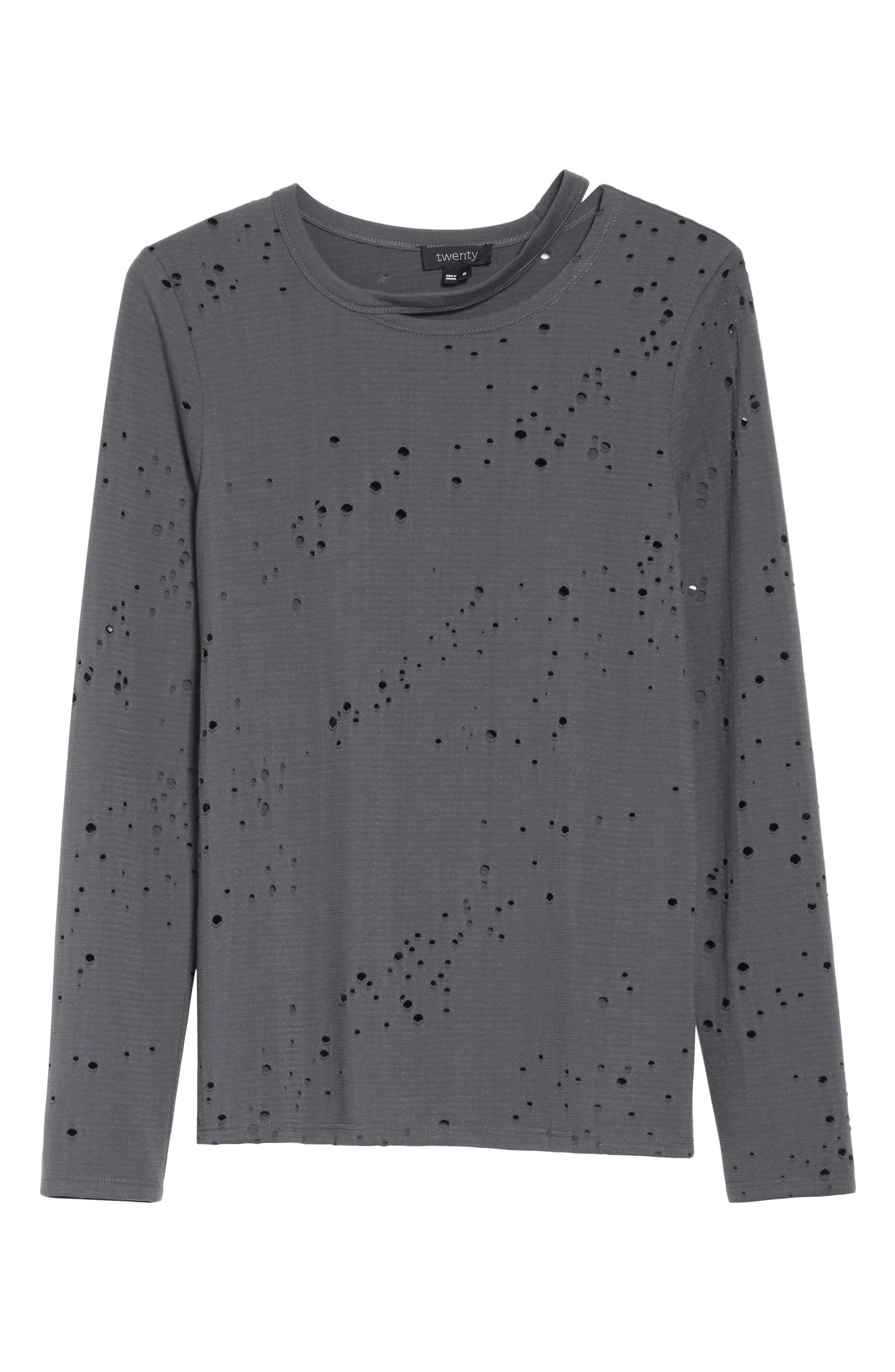 Waverly Perforated Tee,                             Alternate thumbnail 6, color,                             022