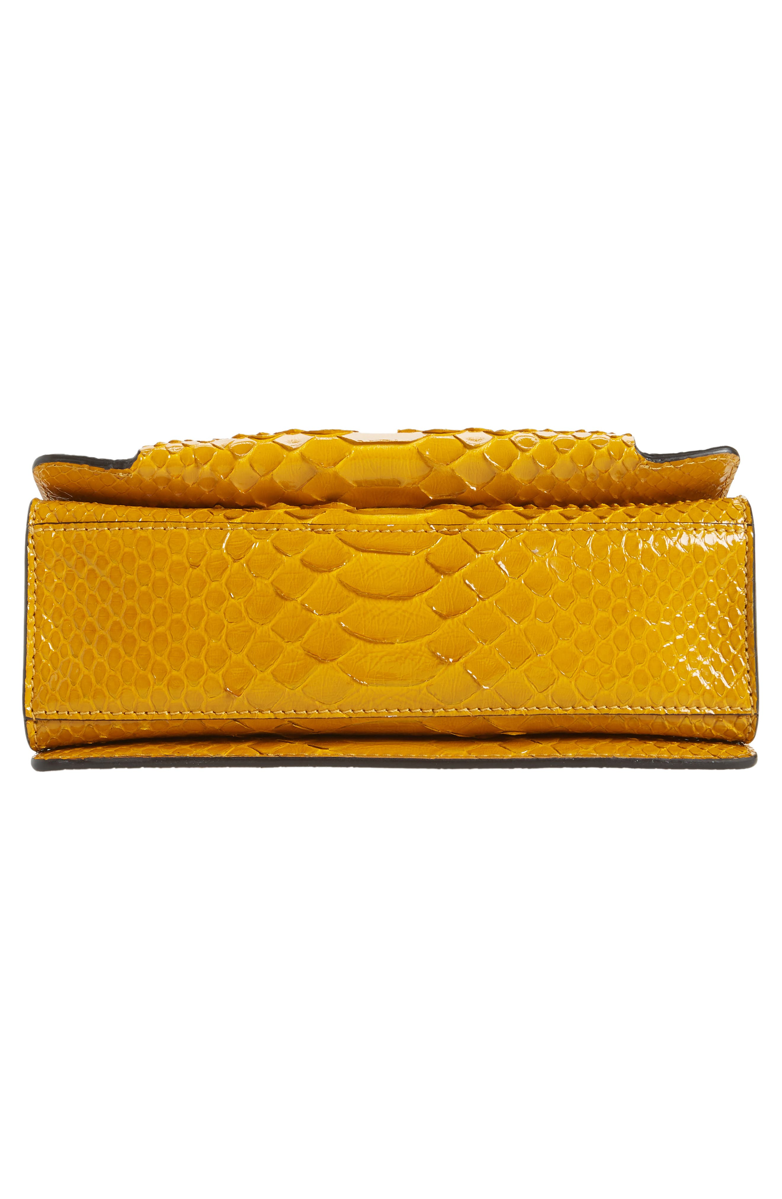 Small GV3 Genuine Python Shoulder Bag,                             Alternate thumbnail 6, color,                             GOLDEN