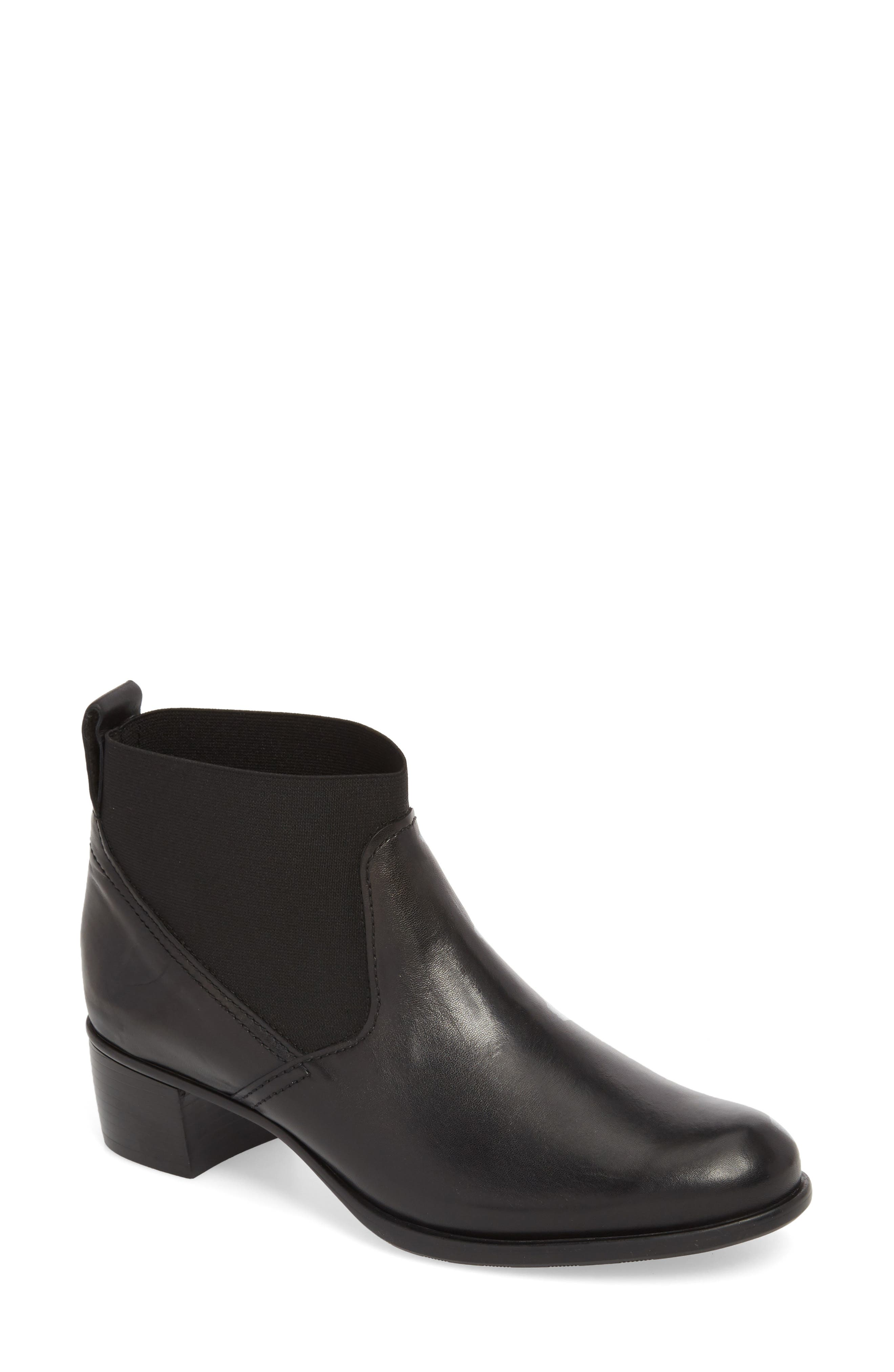 Ana Bootie,                             Main thumbnail 1, color,                             BLACK LEATHER