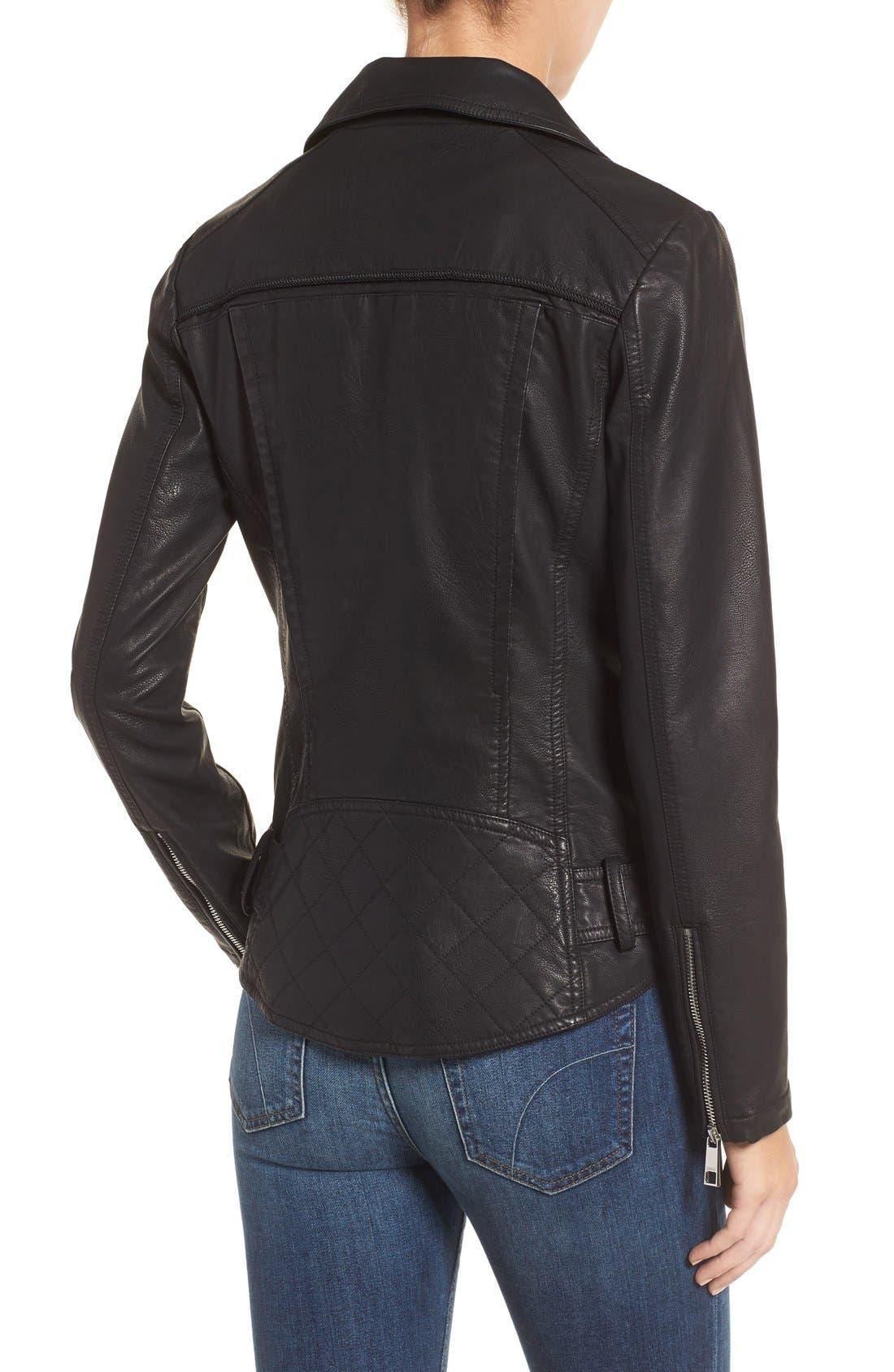 Faux Leather Moto Jacket,                             Alternate thumbnail 11, color,