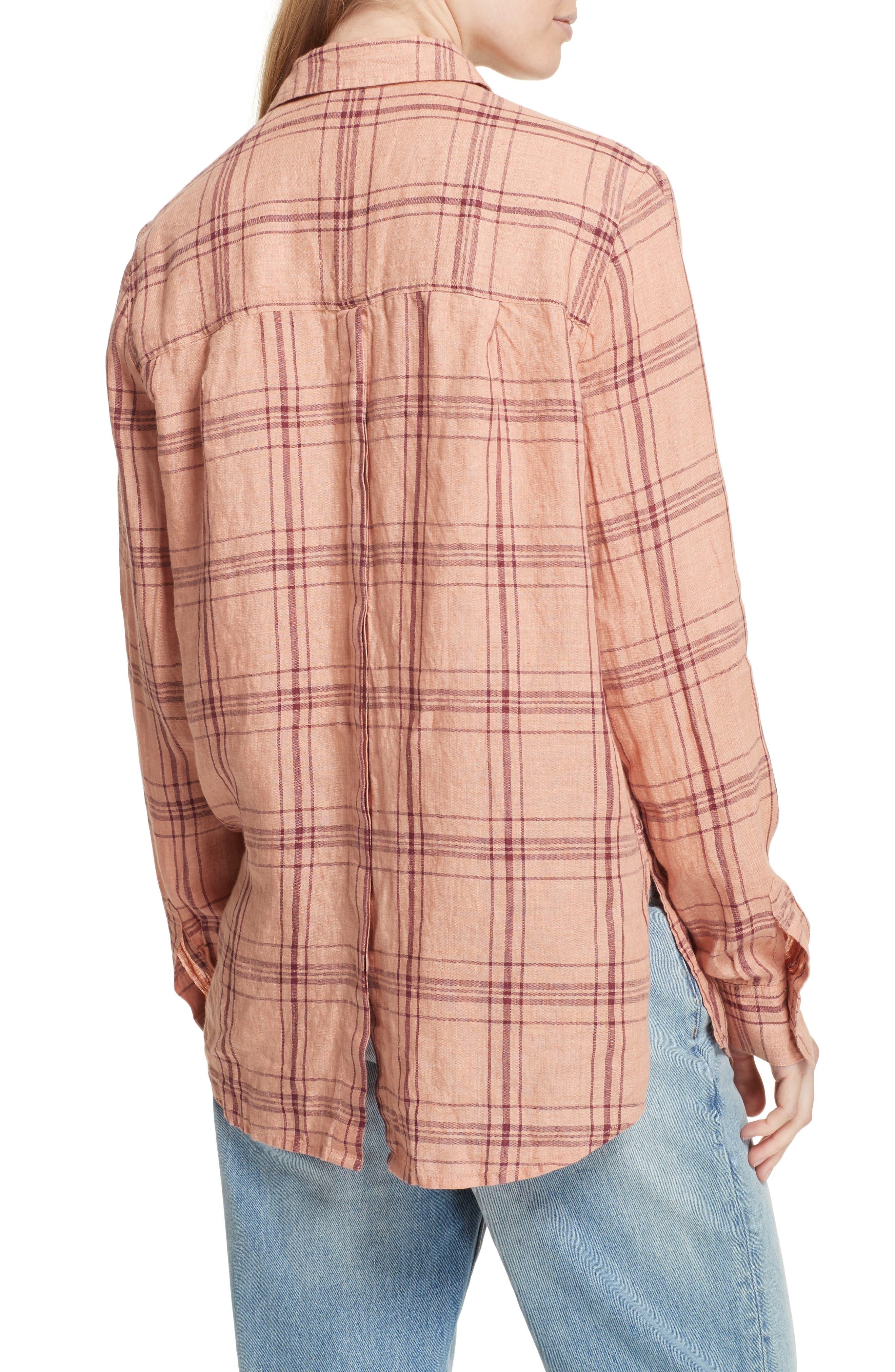 No Limits Plaid Linen Shirt,                             Alternate thumbnail 4, color,