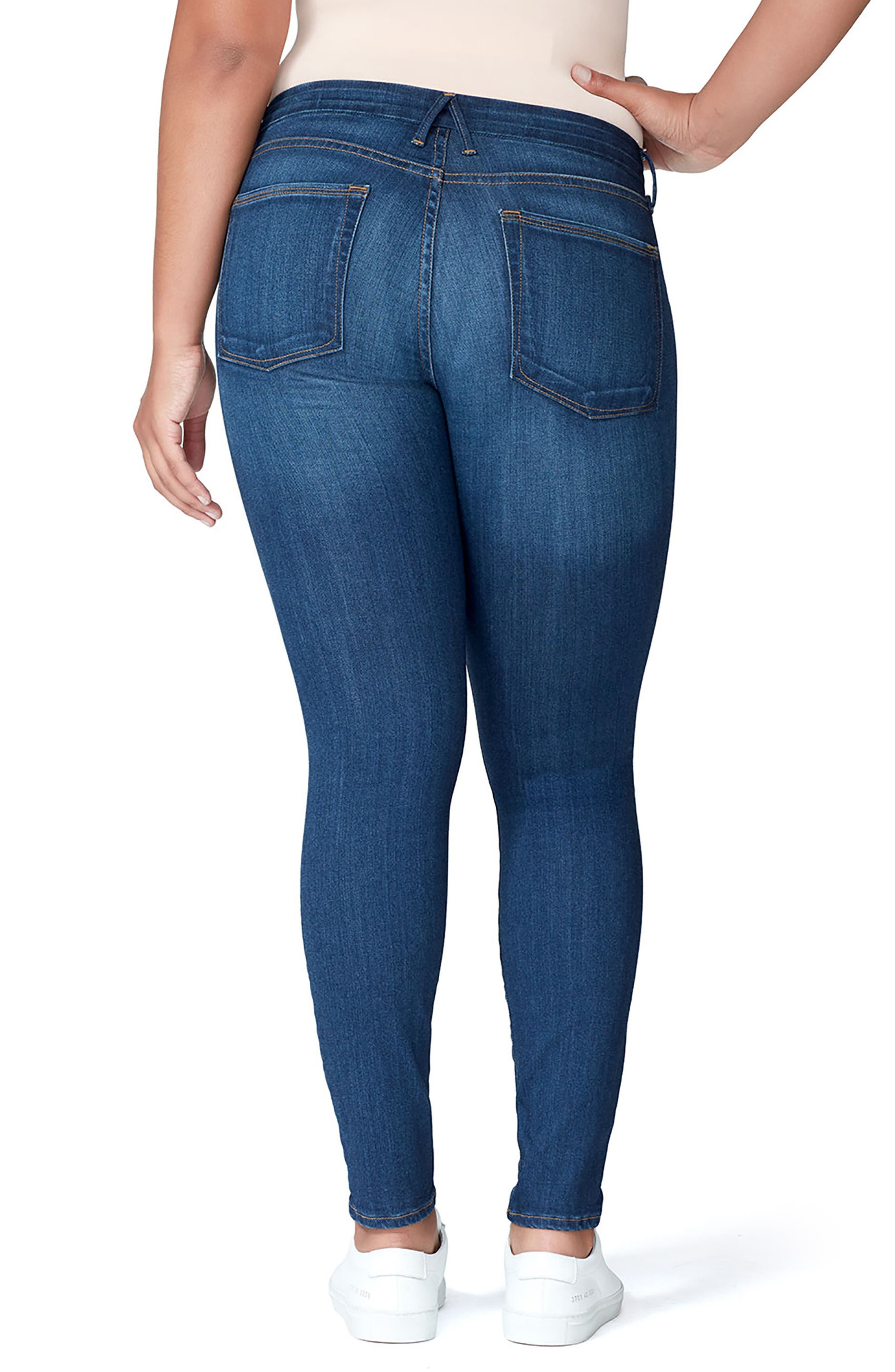 Good Mama The Honeymoon Low Rise Maternity Skinny Jeans,                             Alternate thumbnail 2, color,                             BLUE