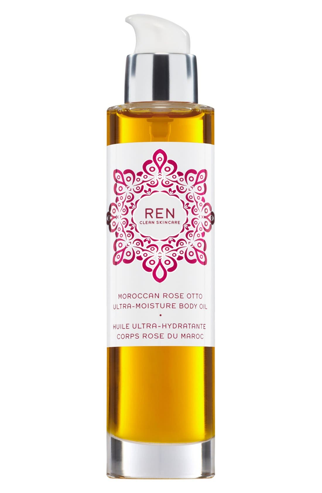 SPACE.NK.apothecary REN Moroccan Rose Ultra-Moisture Body Oil,                             Main thumbnail 1, color,                             NO COLOR